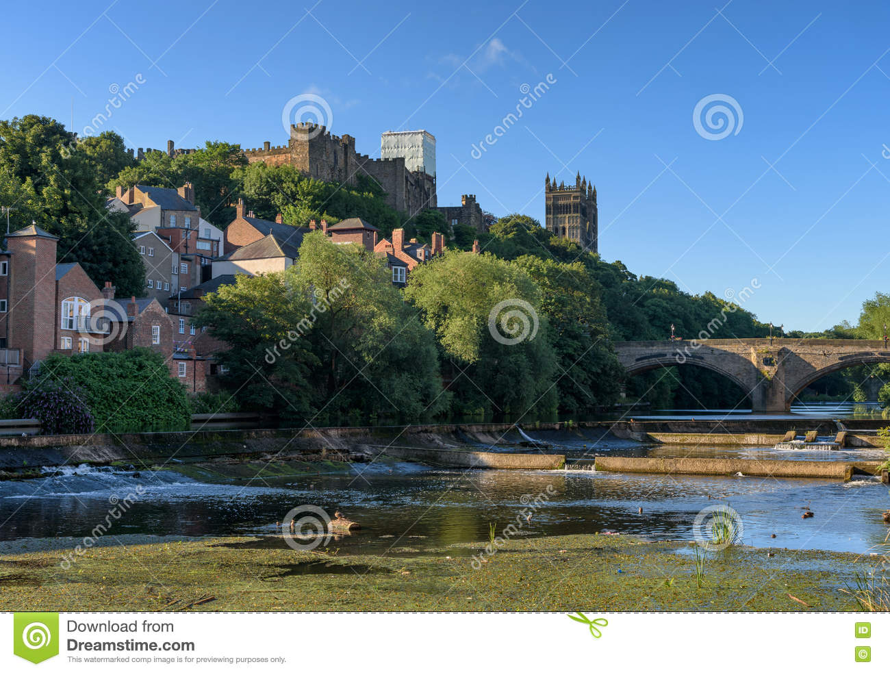 Durham England Uk Stock Photo Image Of Hill Framwellgate 78430826