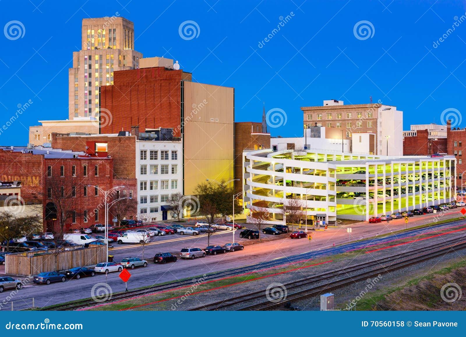 Durham North Carolina Skyline Stock Photo Image Of Scene City