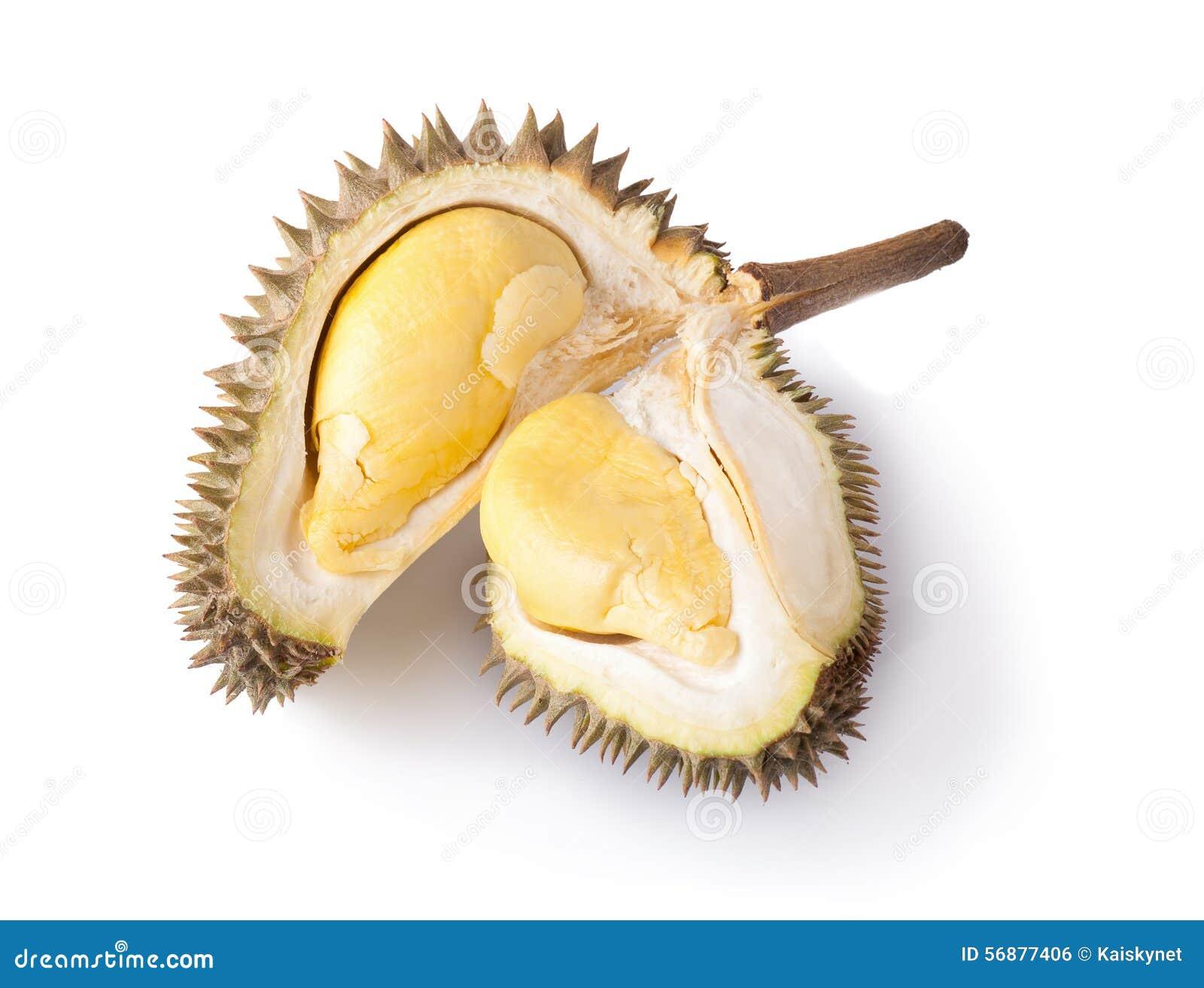 Durian isolato su priorità bassa bianca