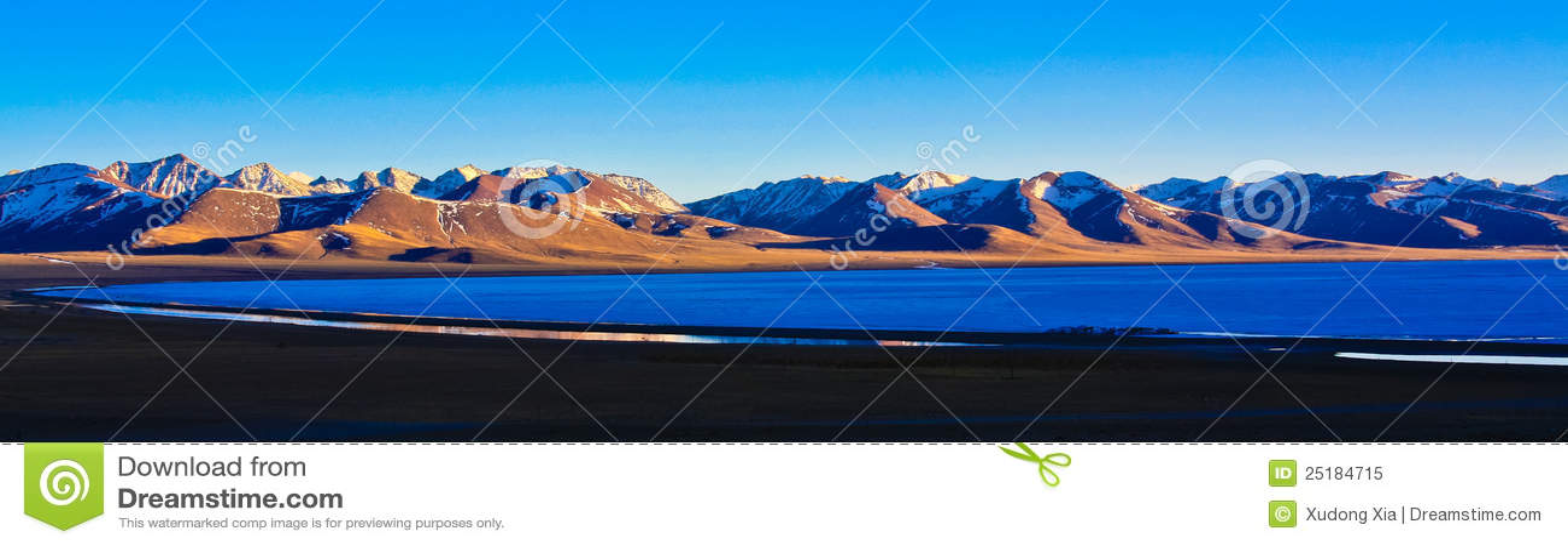 Dusk λίμνη nam
