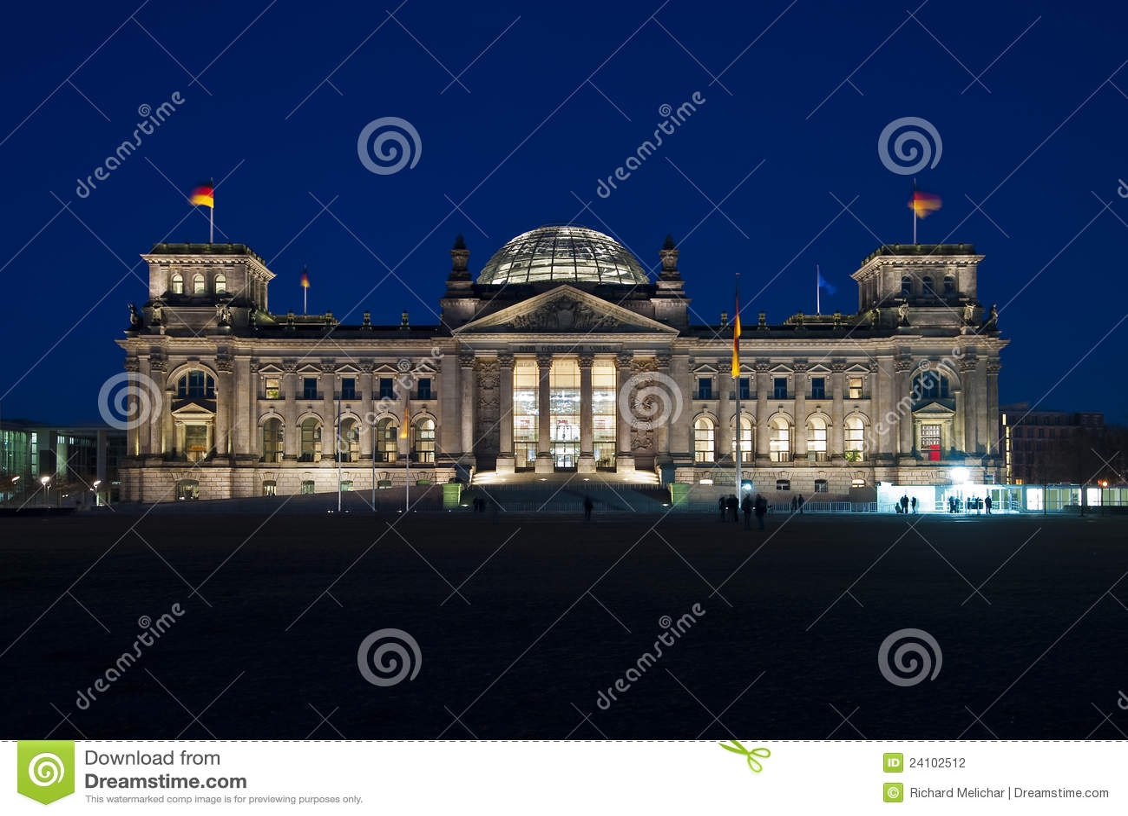 Dusk του Βερολίνου reichstag