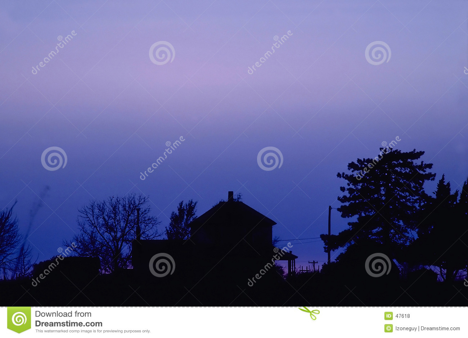 Dusk farmhouse