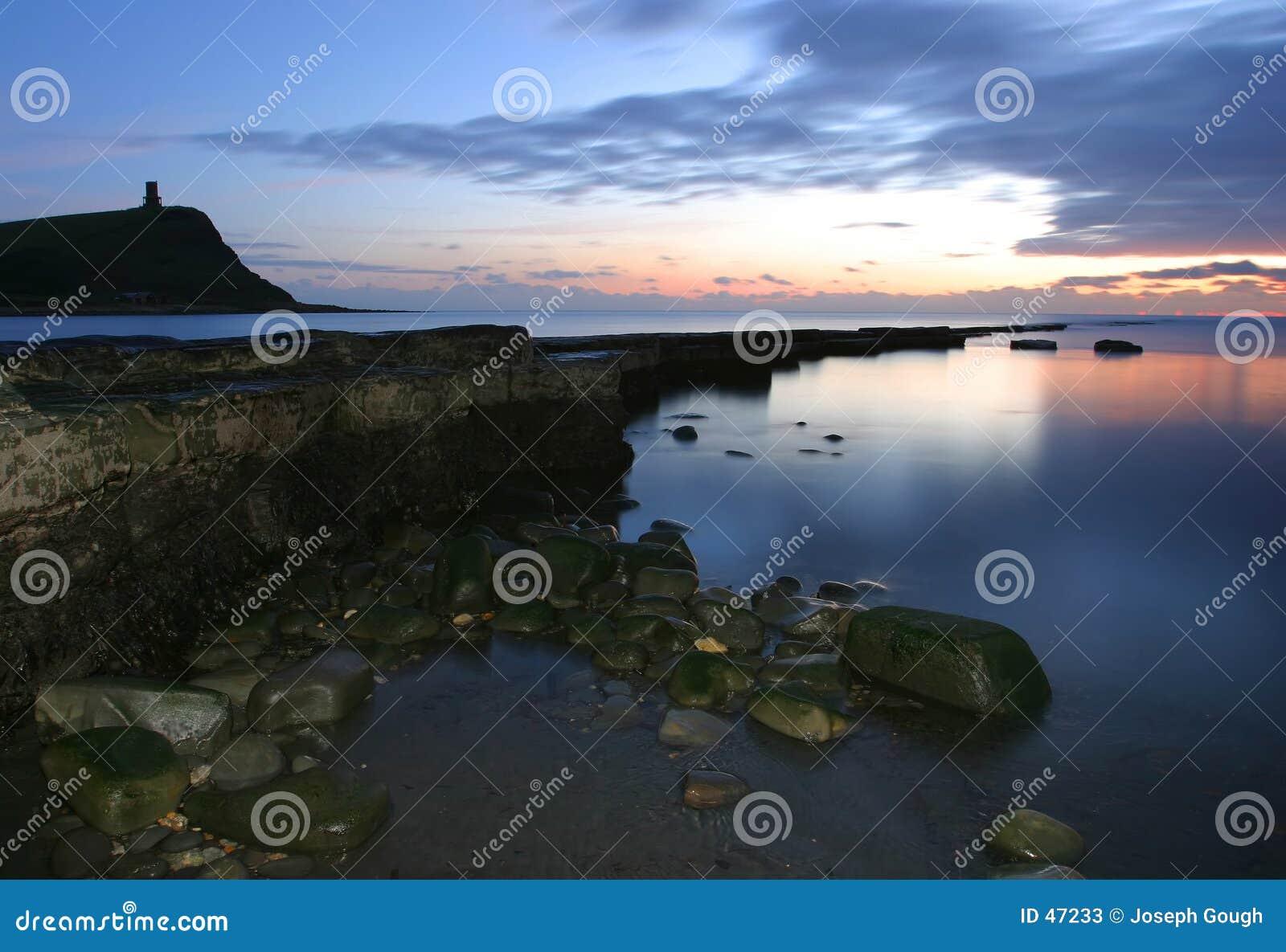Dusk at Kimmeridge Bay