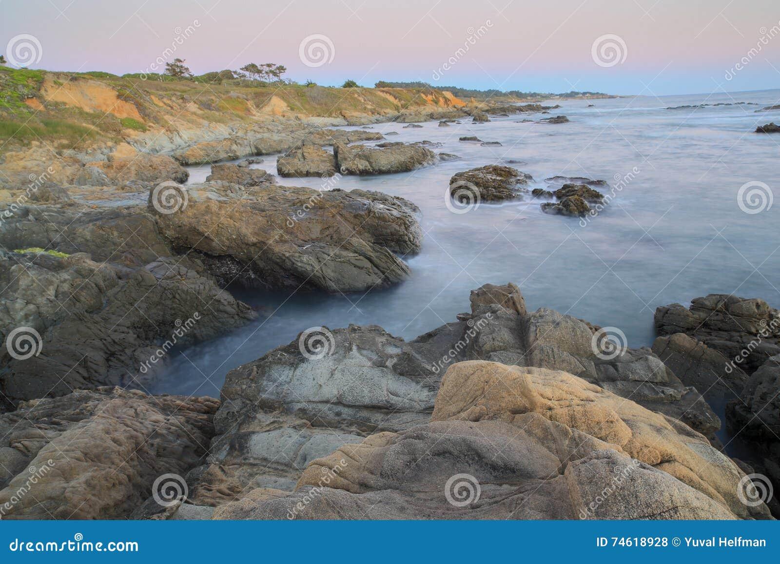 California san mateo county pescadero - Dusk Over Bean Hollow State Beach Pescadero California Usa