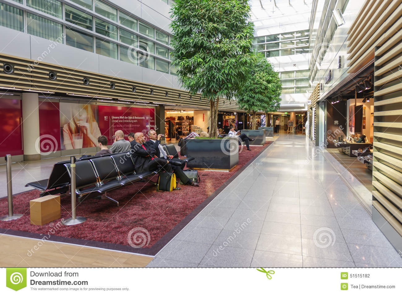 Dusseldorf Airport Interior Editorial Photography Image