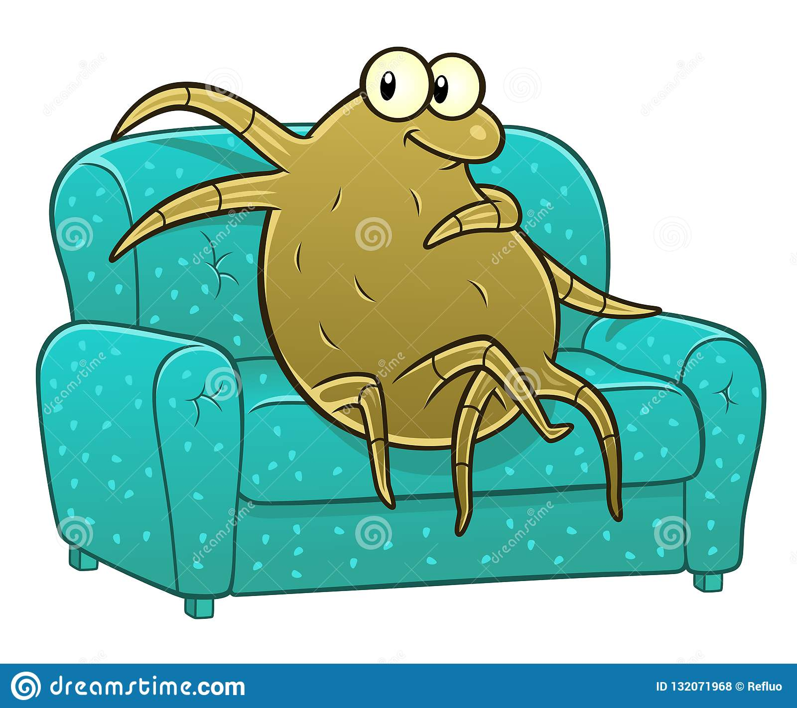 Dust Mite On The Sofa Stock Vector Illustration Of Danger 132071968