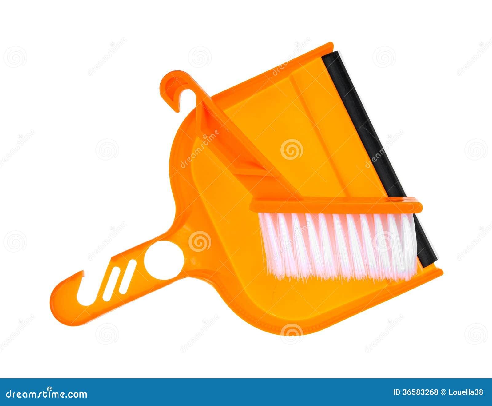 Dust Pan Brush At Angle Royalty Free Stock Photos Image