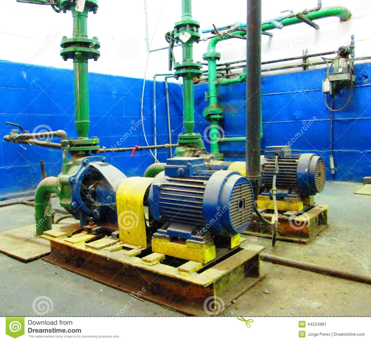 Water electric pump motors stock photo image 44224981 for Used industrial electric motors