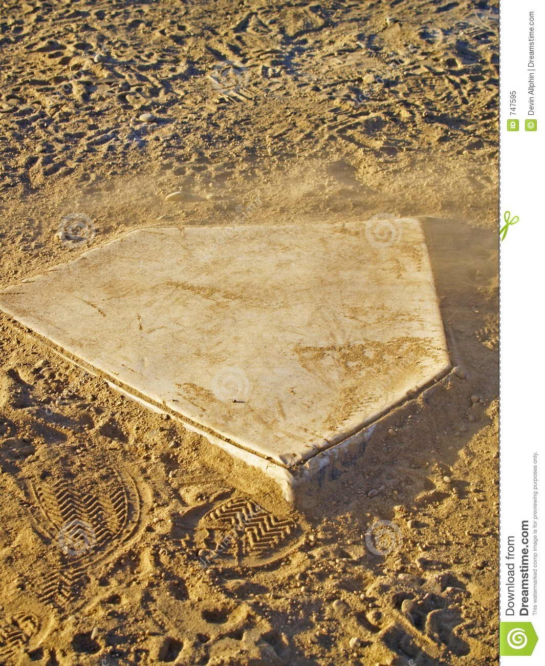 dusty home plate royalty free stock photo image 747595