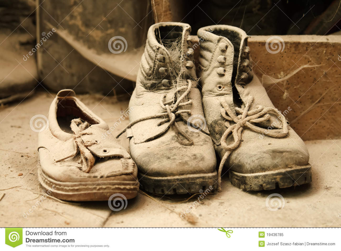 Dusty Old Shoes Royalty Free Stock Photo Image 19436785