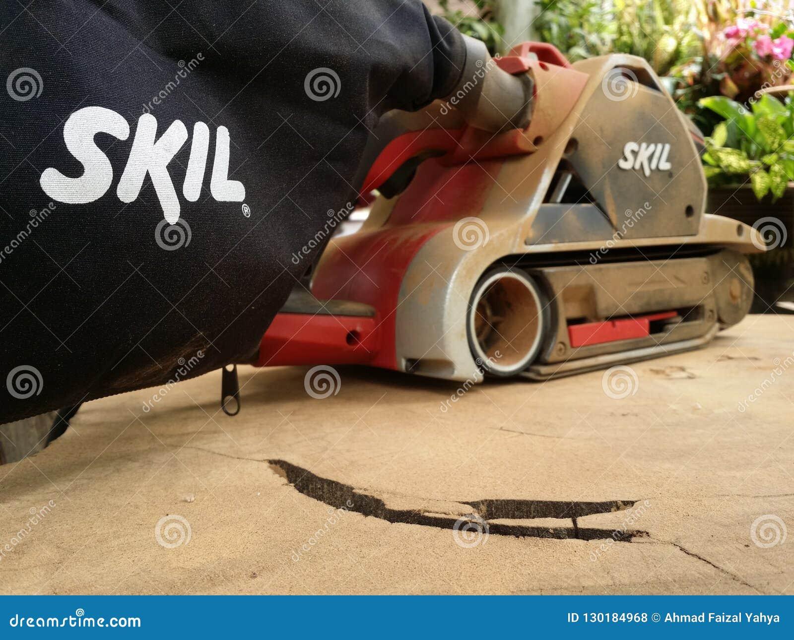 Dusty Skil-merk elektrische schuurmachine