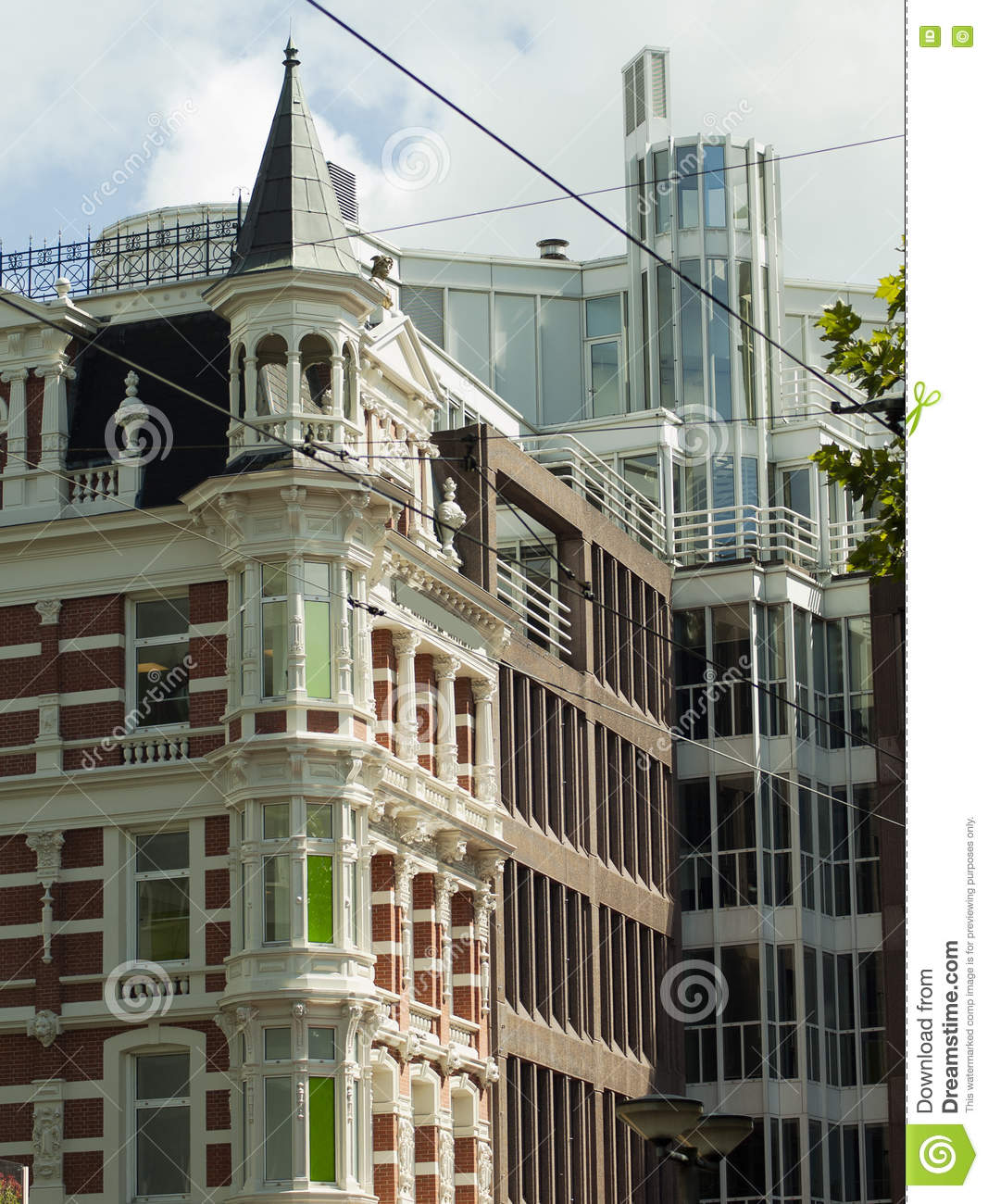 Modern dutch home with wooden curved facade royalty free for Modern baroque art