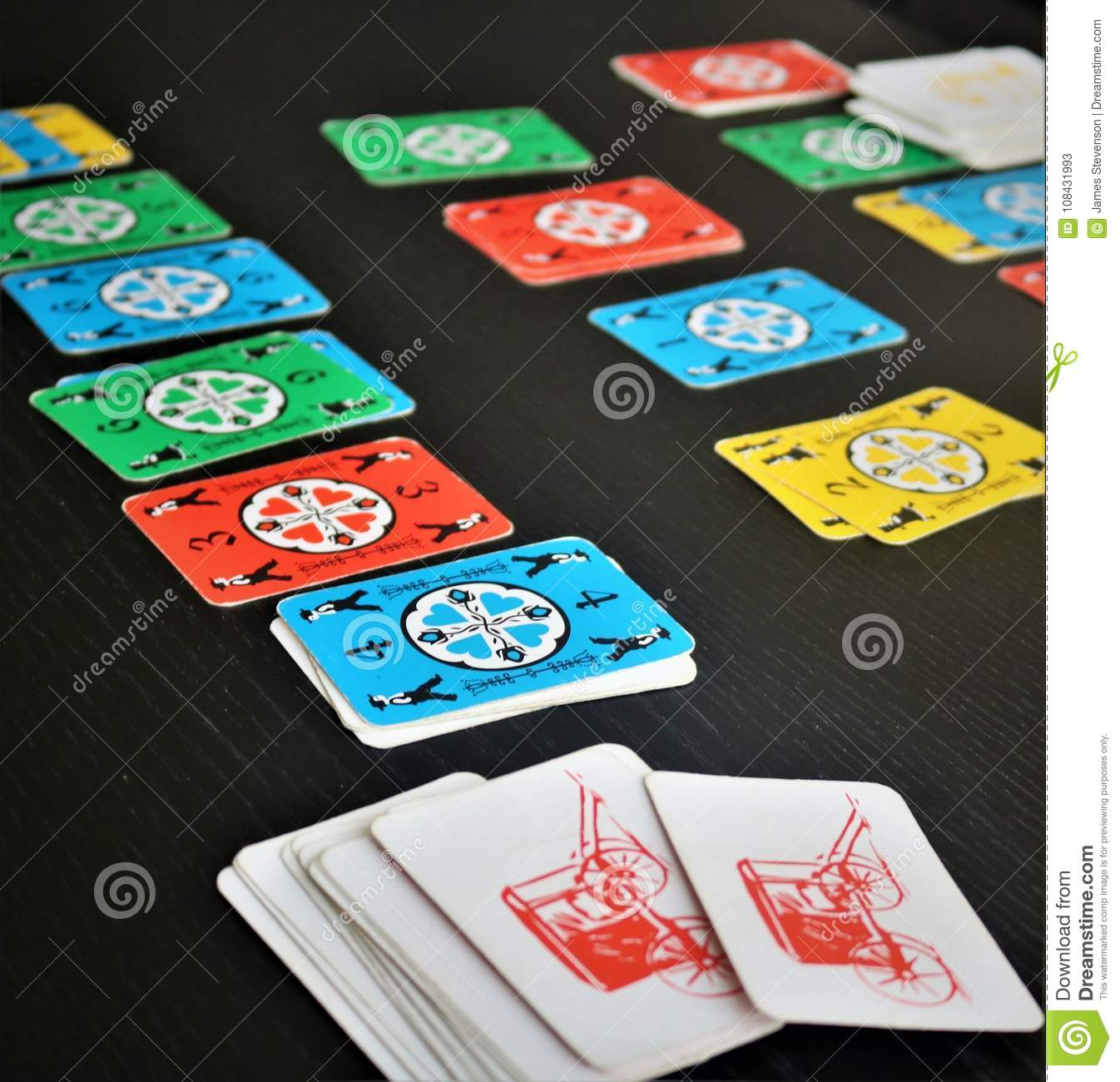 Dutch Blitz Is Good Card Game For Family Stock Image Image Of