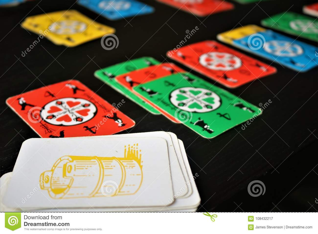 Dutch Blitz Is Good Card Game For Family Stock Image Image