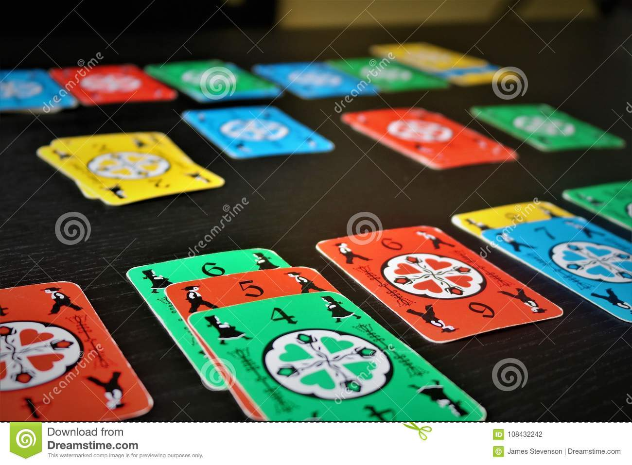 Dutch Blitz Is Good Card Game For Family Stock Photo Image