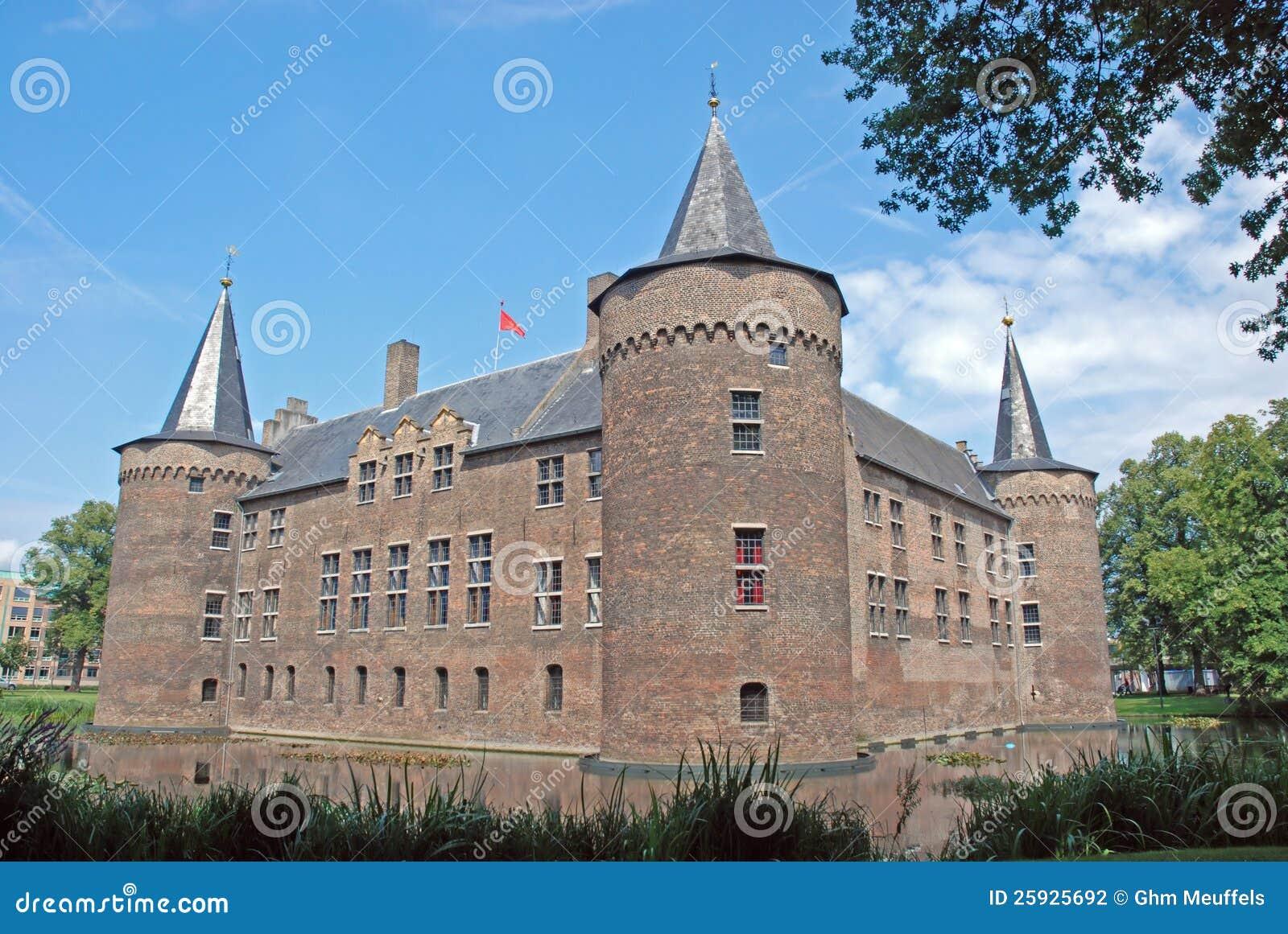 Dutch Castle Helmond,square medieval moated castle