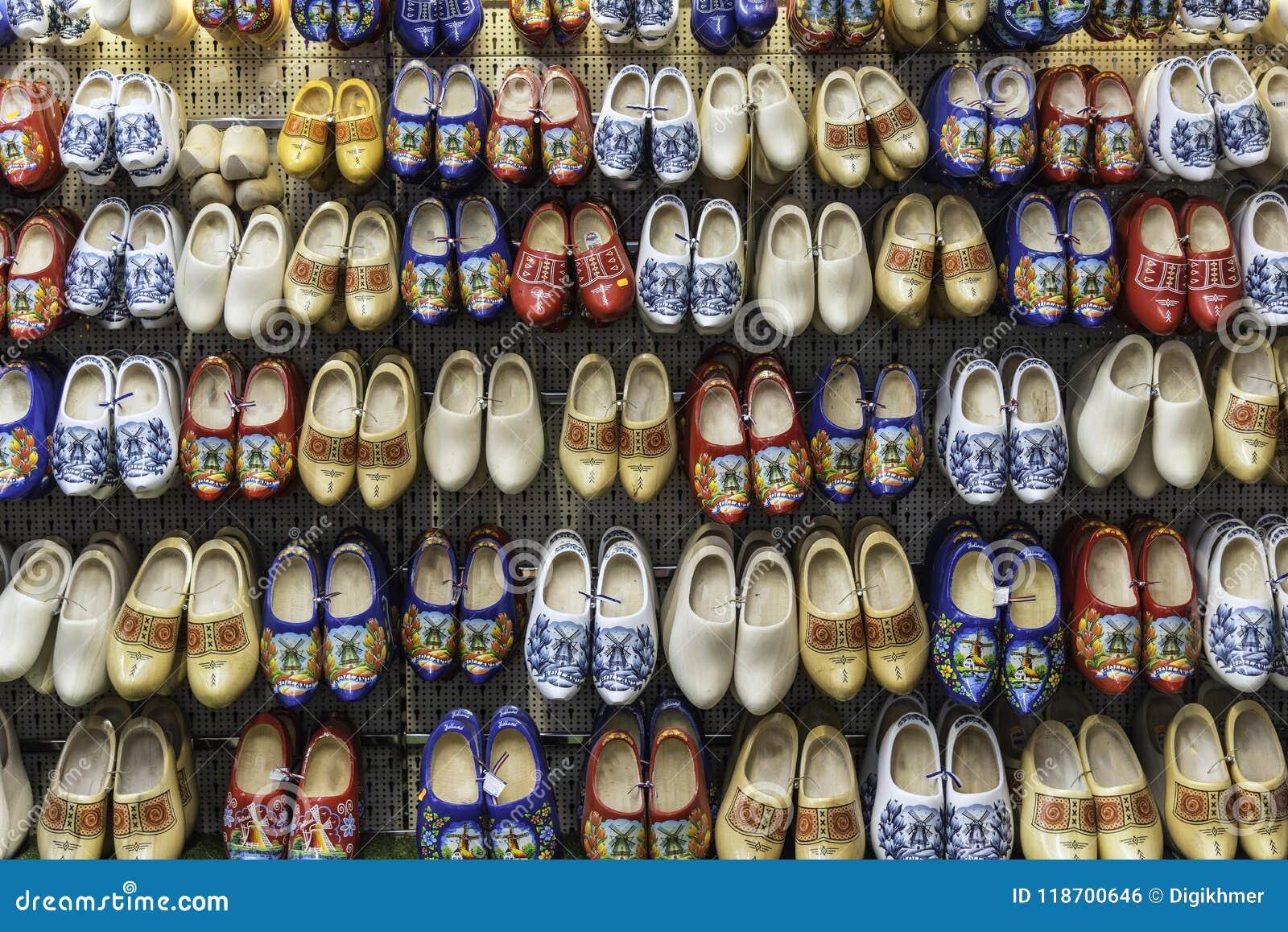 Dutch clogs on sale at Amsterdam shop