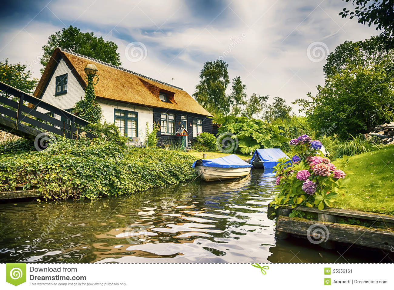 Dutch County Side Stock Image Image