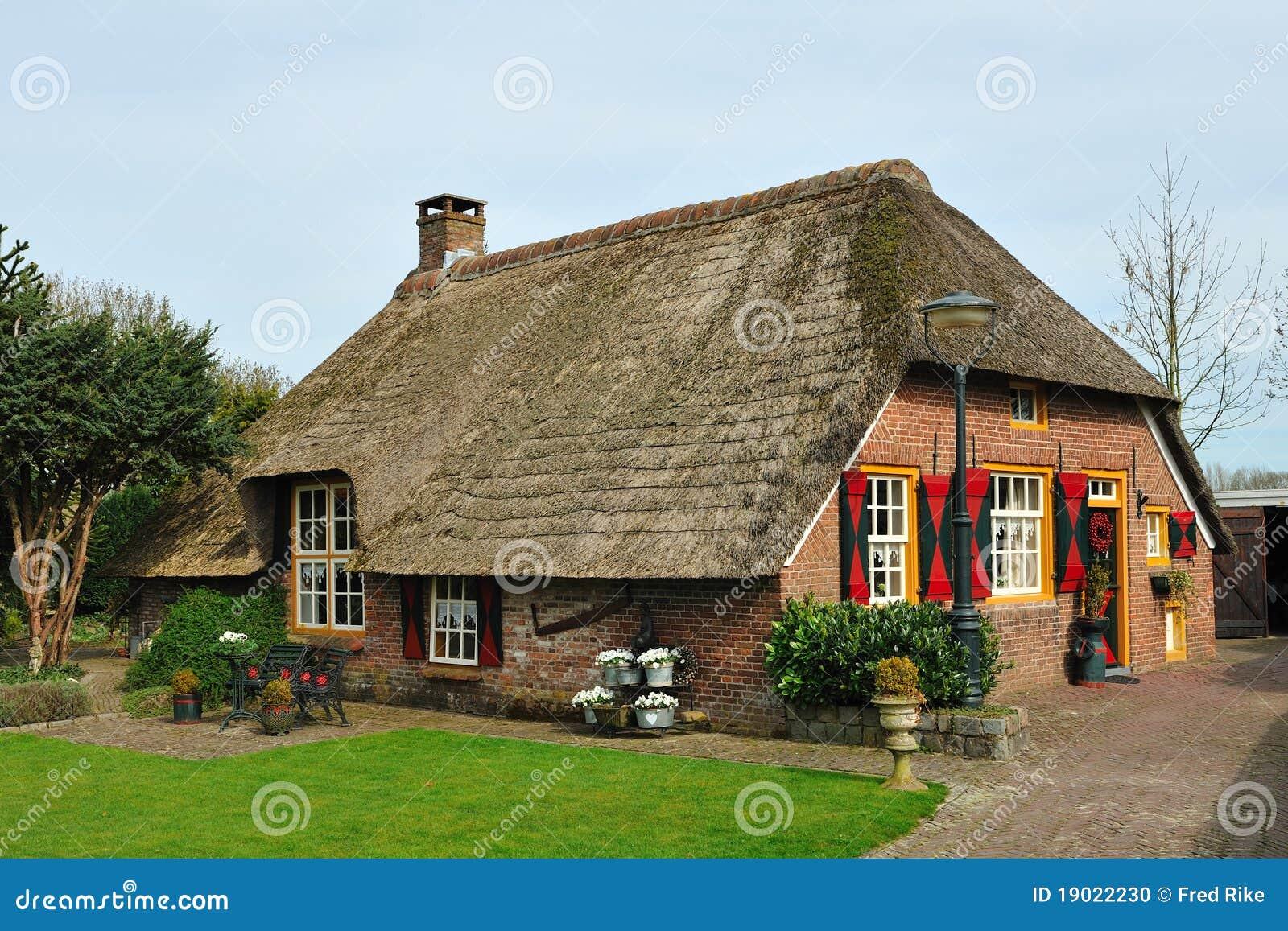 Dutch Farmhouse Stock Photo Image Of Scenic Brick
