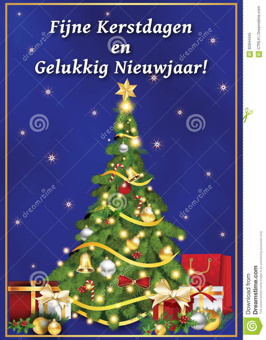 Dutch Greeting Card For Winter Holiday. Stock Illustration ...