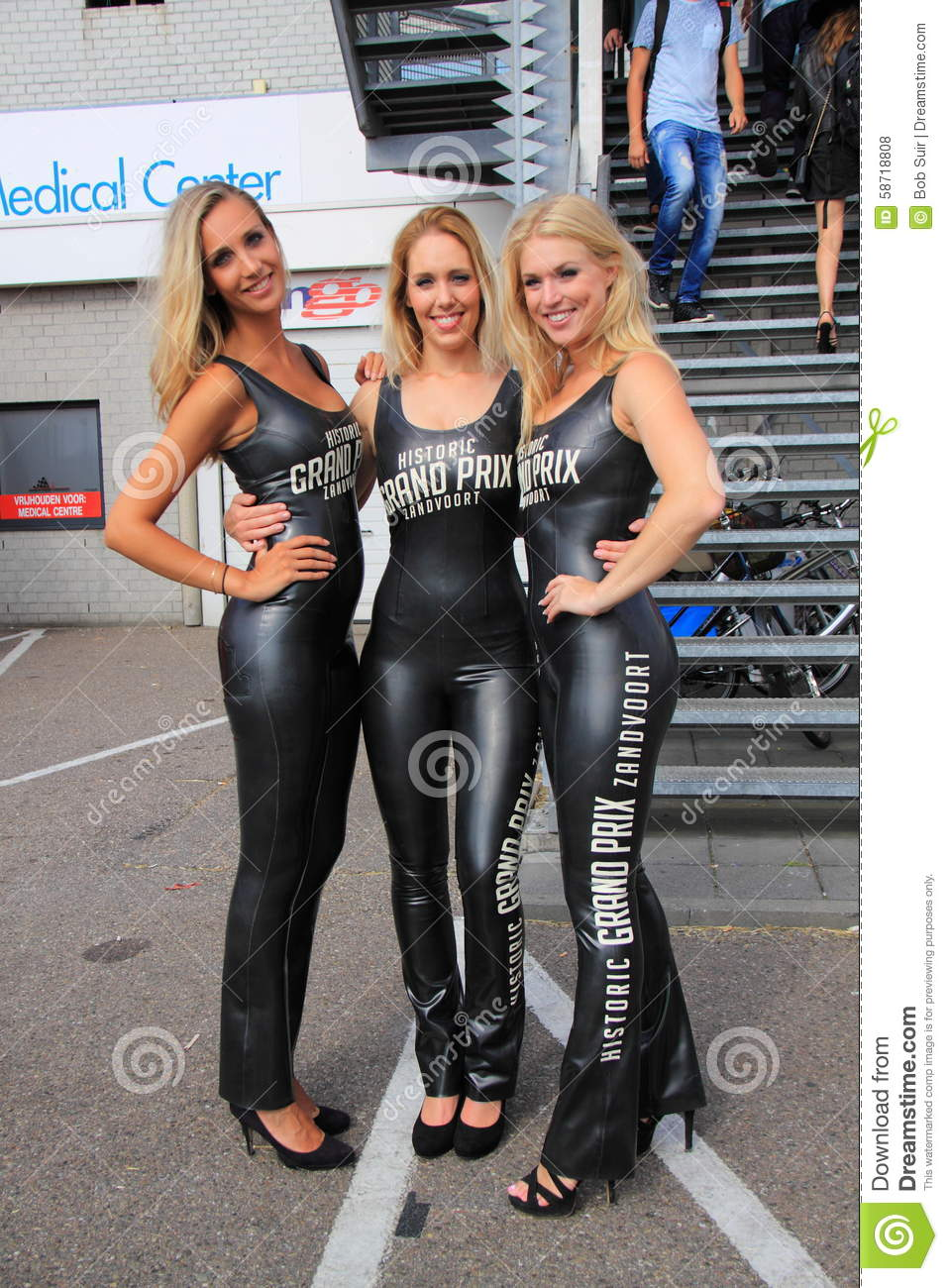 Dutch Grid Girls Promotion Team Zandvoort Editorial Stock