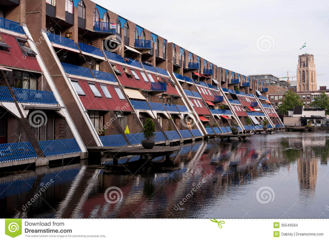 Dutch Houses Reflection On Water Stock Photo Image 35549584