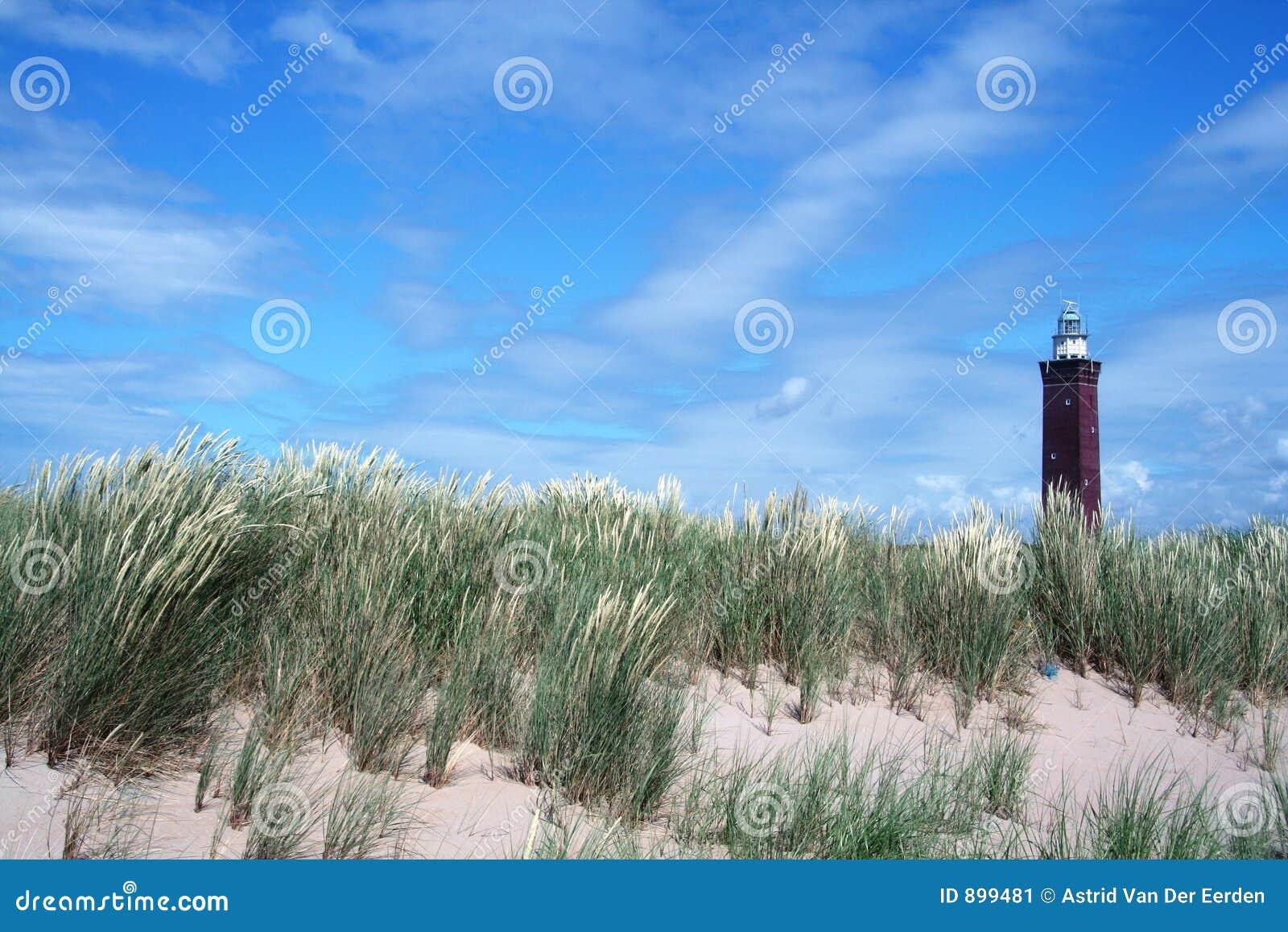 Dutch krajobrazowa latarnia morska