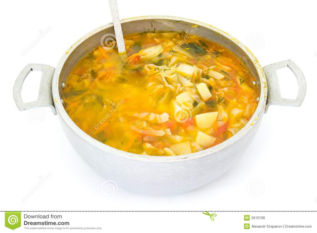 Dutch Oven With Soup Royalty Free Stock Image - Image: 5610106