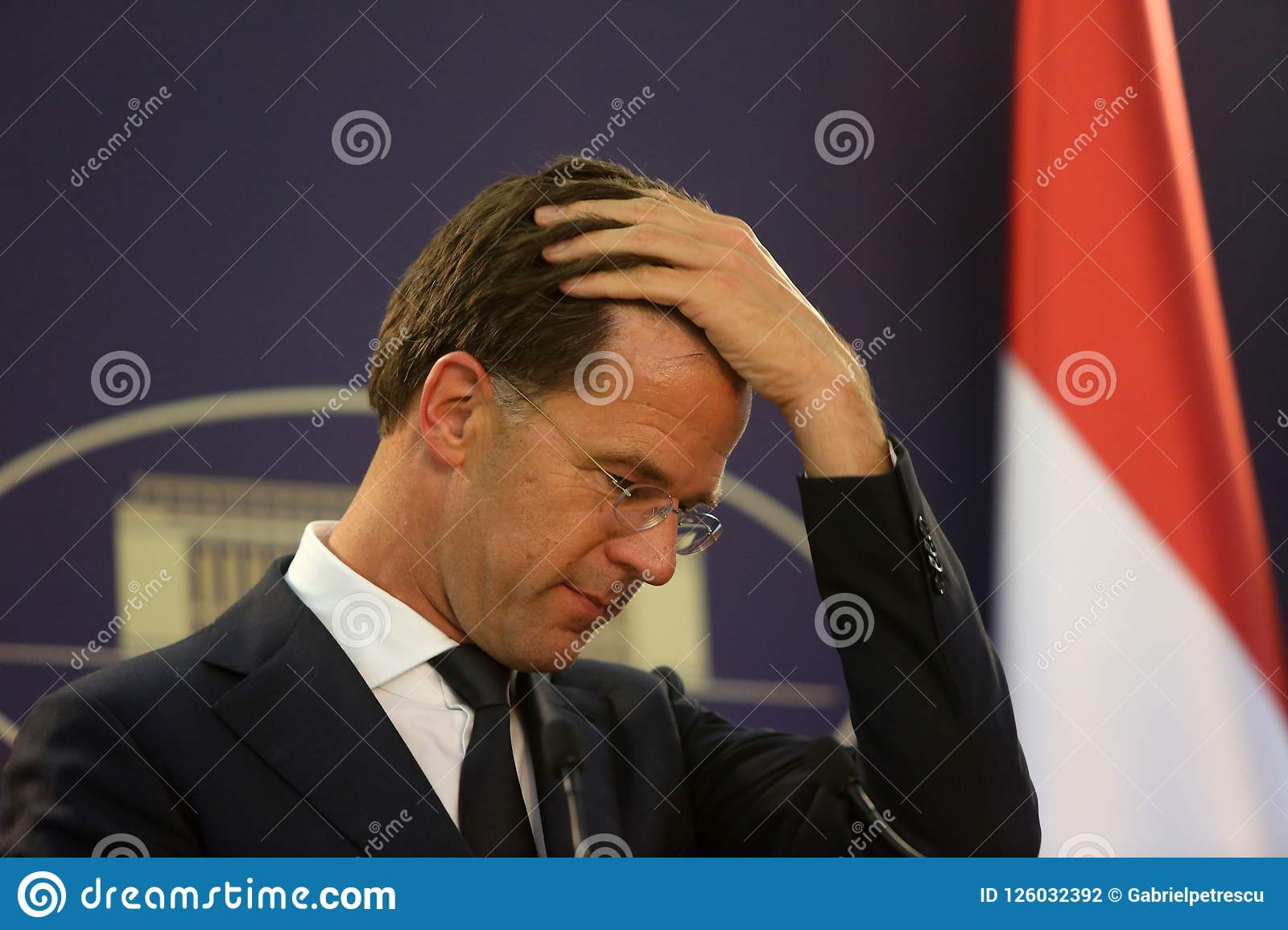 Maurits Hendriks Netherlands Prime Minister Mark Rutte L: Dutch Prime Minister Mark Rutte Editorial Photography