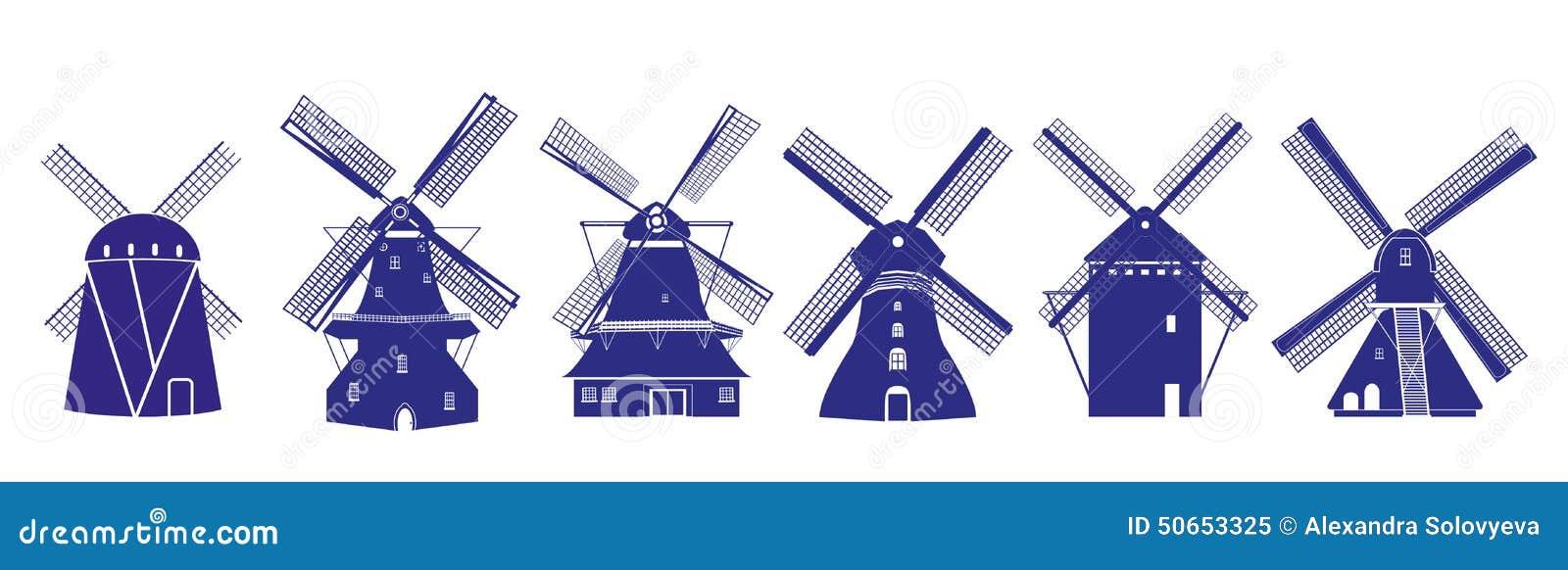 Stock Illustration Dutch Windmills Illustrations Delft Blue Colors Isolated Image50653325 on Vintage Kitchen Island