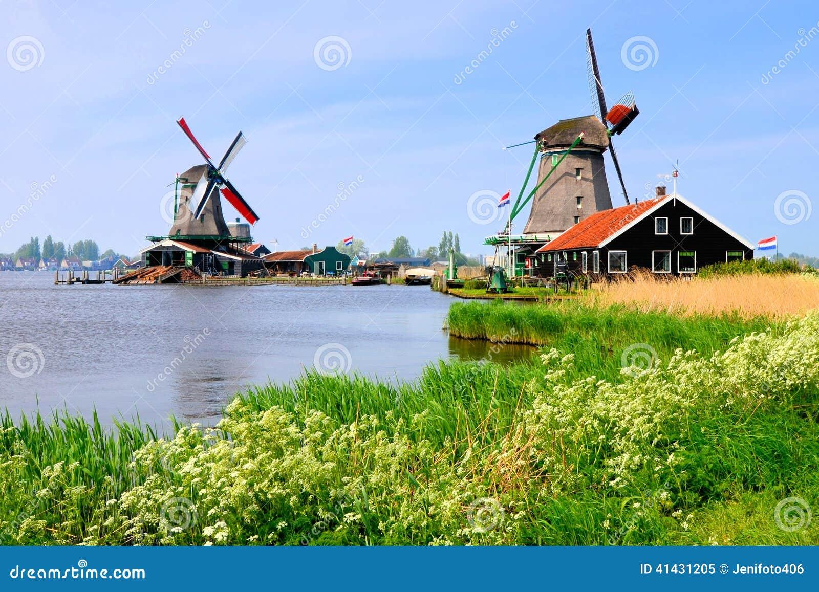 Dutch windmills of Zaanse Schans