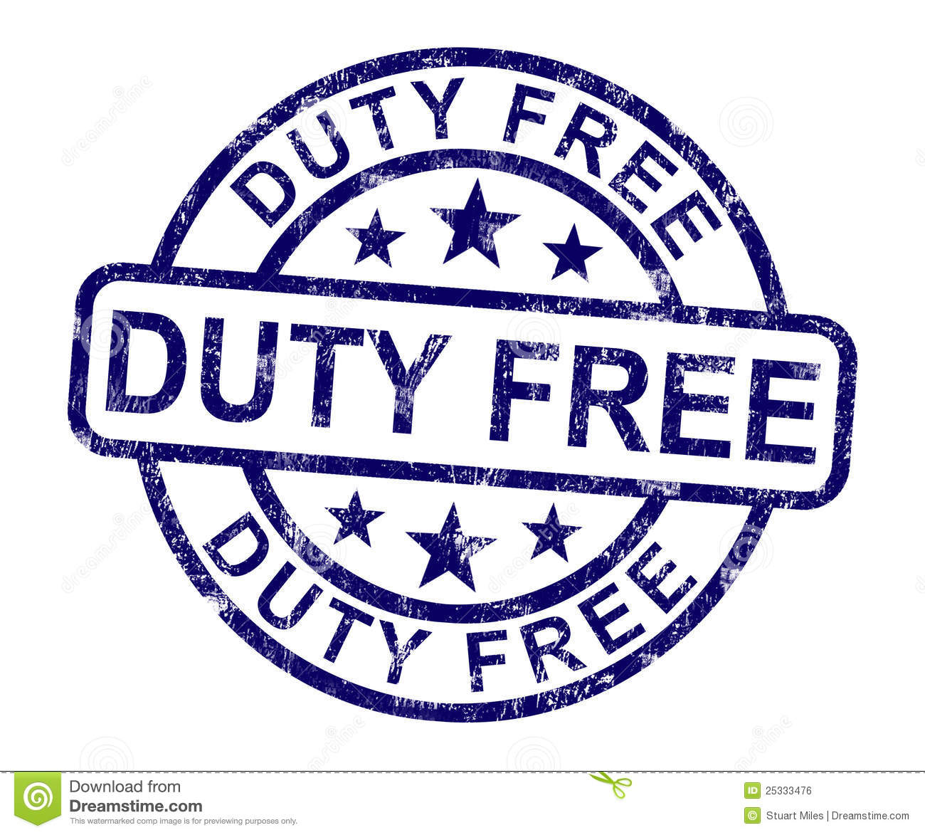 Duty Free Stamp Shows No Tax Shopping Royalty Free Stock Image - Image ...