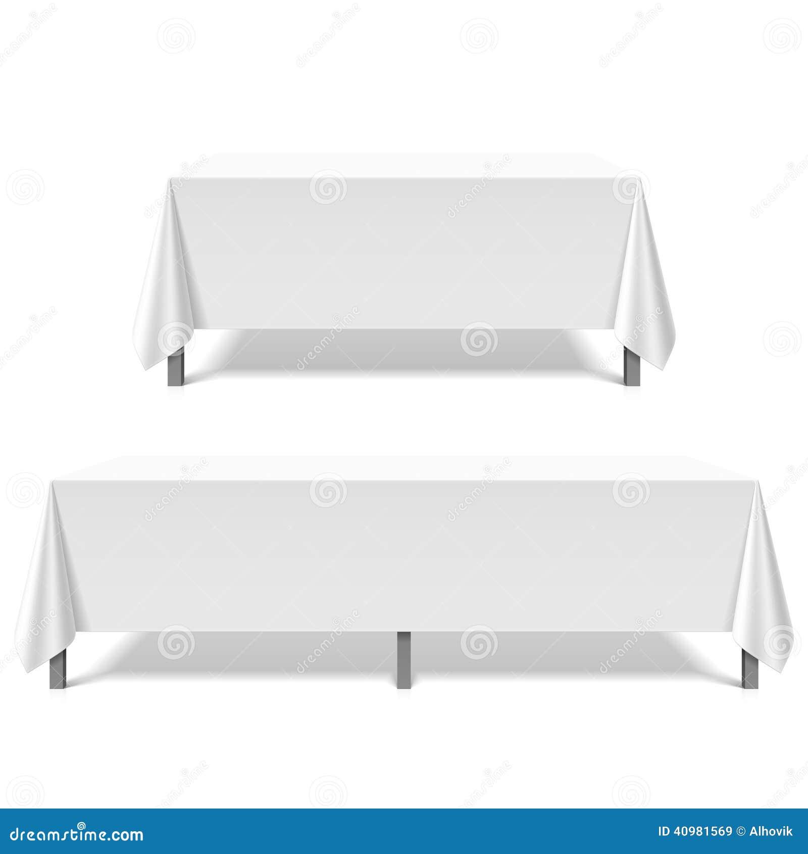 Duzi stoły zakrywający z białym tablecloth