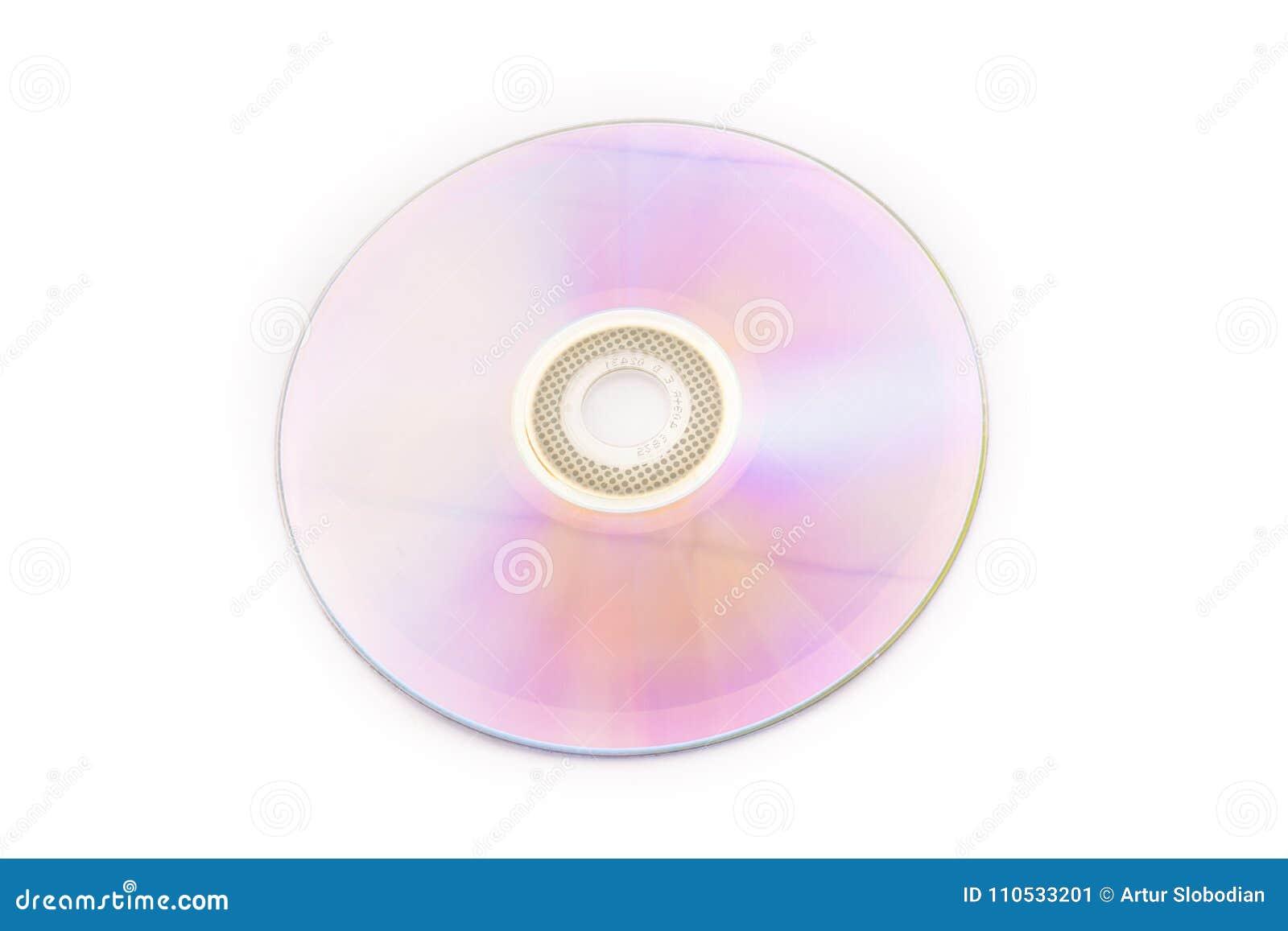 DVD dysk, odizolowywający na białym tle