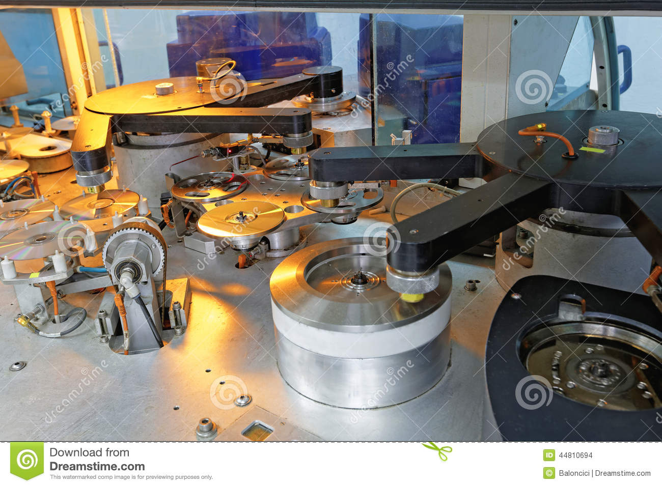 compact disc manufacturing machine