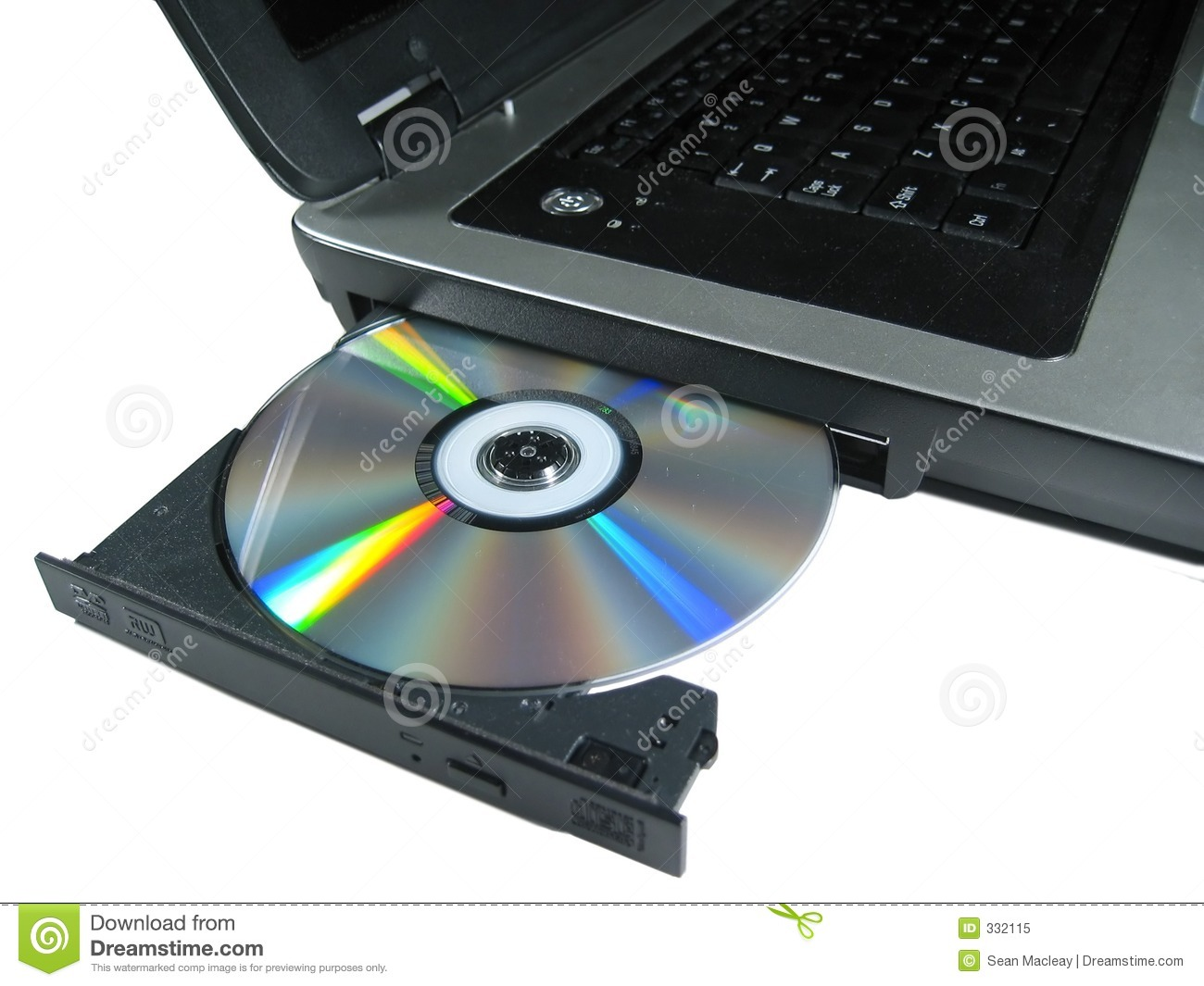 dvd rom on a laptop opened to show disc isolated royalty free clipart borders for business cards free clip art for business cards ireland