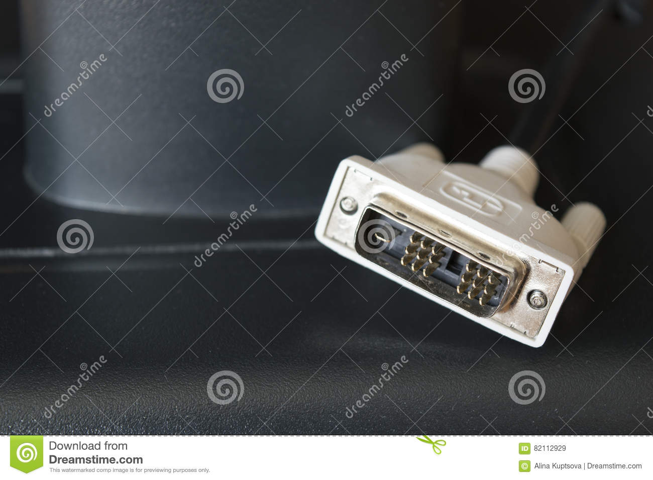 DVI Cable For Graphic Port Of Monitor Stock Image - Image of network ...