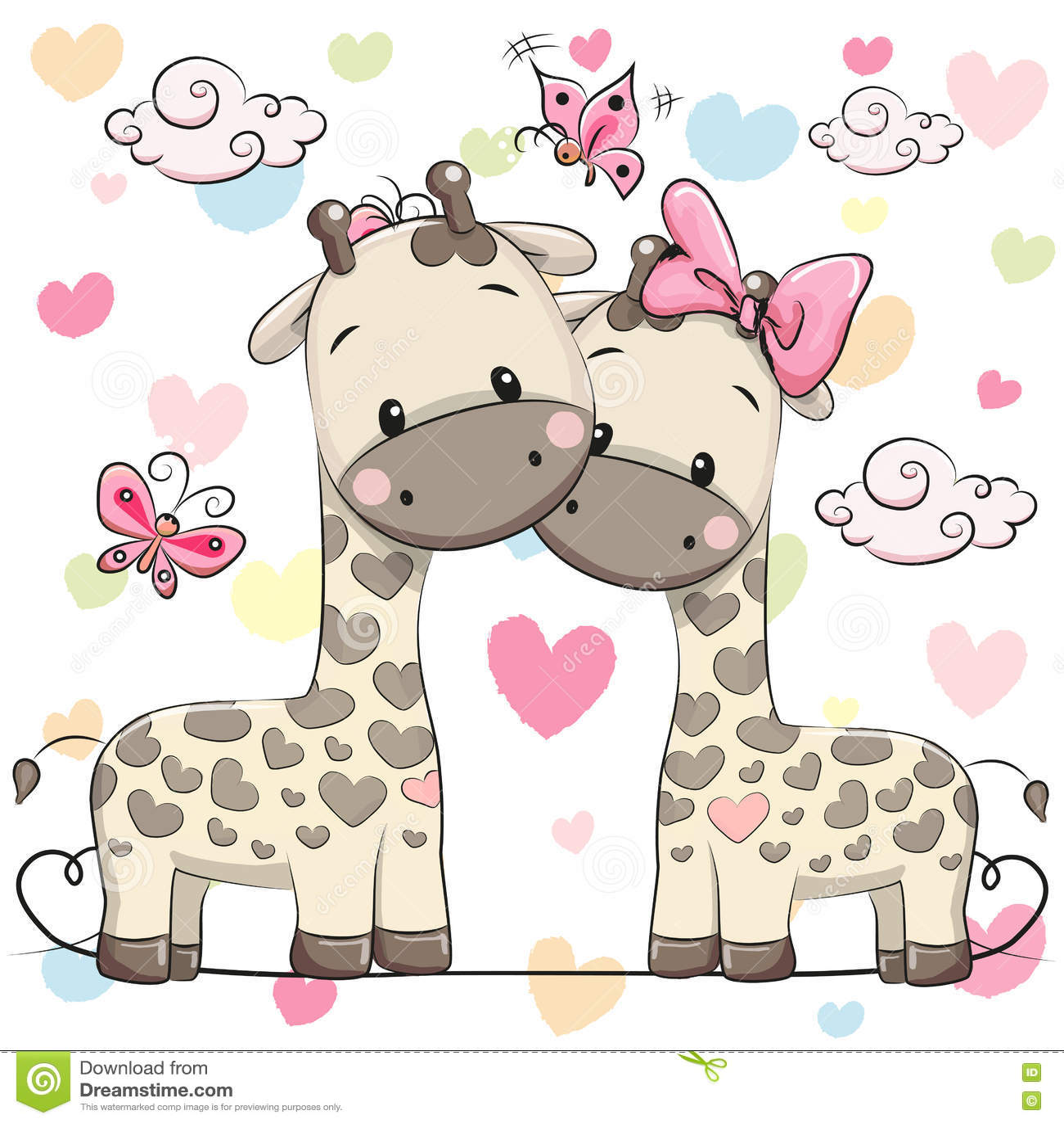 Dwa ślicznej żyrafy