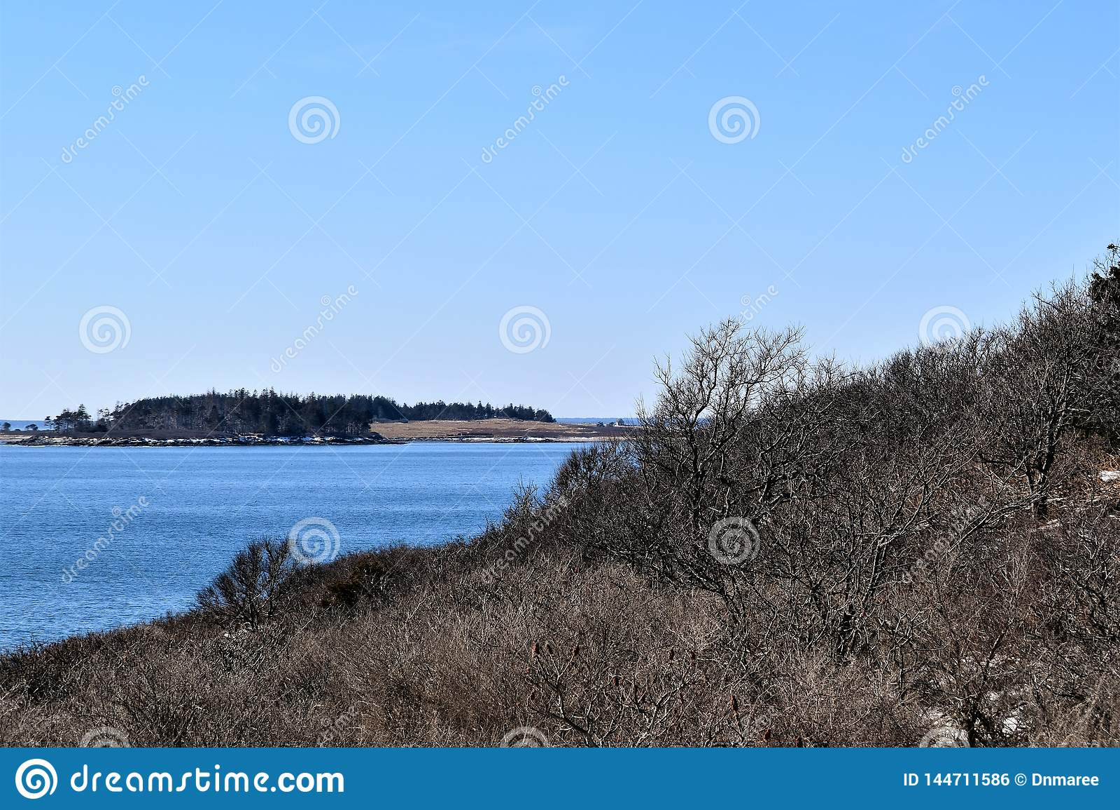 Dwa ?wiate? stanu park i otaczaj?cy widok na ocean na przyl?dku Elizabeth, Cumberland okr?g administracyjny, Maine, JA, Stany Zje
