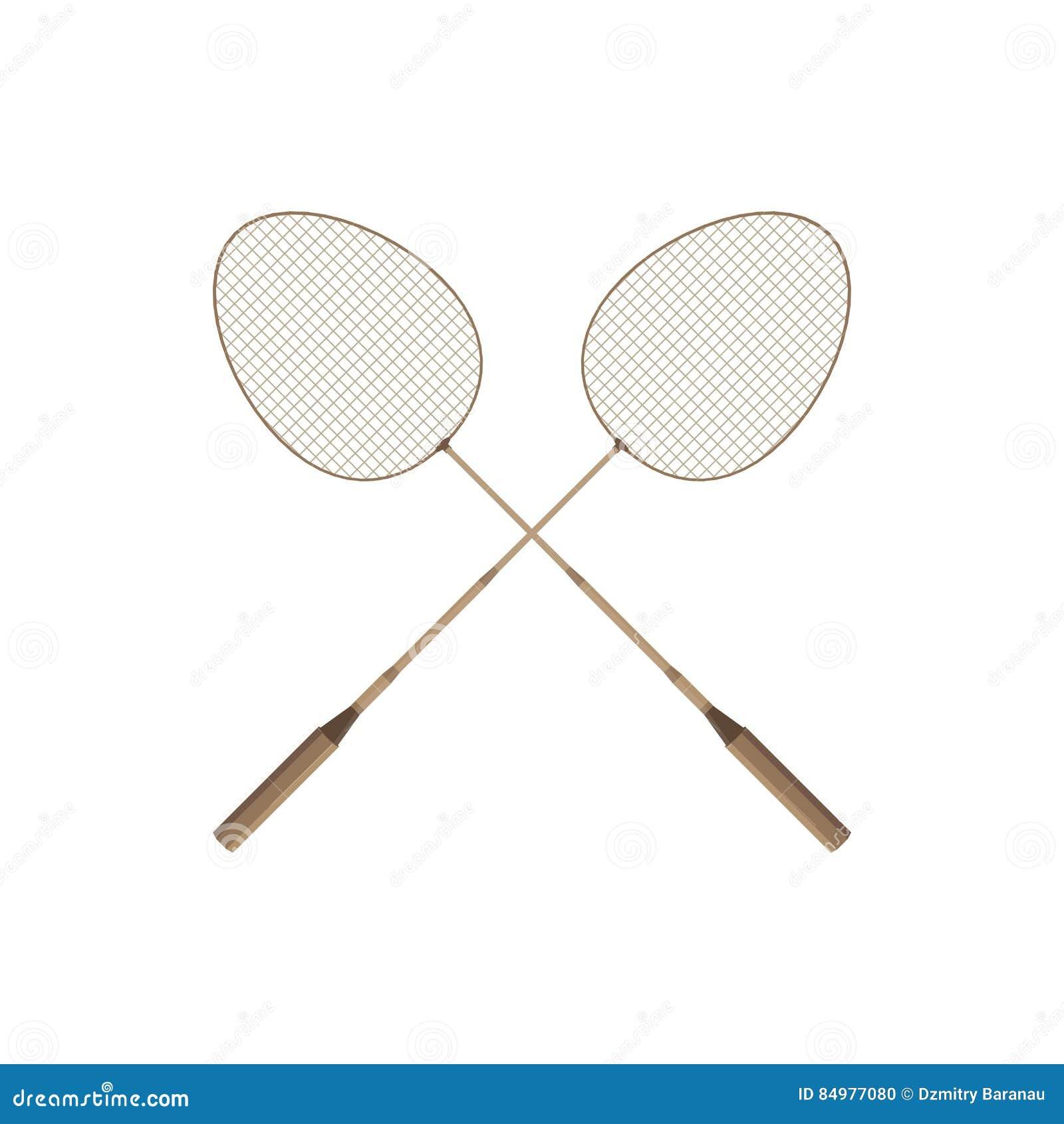 Dwa badminton kant i shuttlecock sporta czasu wolnego gemowa rywalizacja upierzamy sprawność fizyczna wektor Akcja czasu wolnego