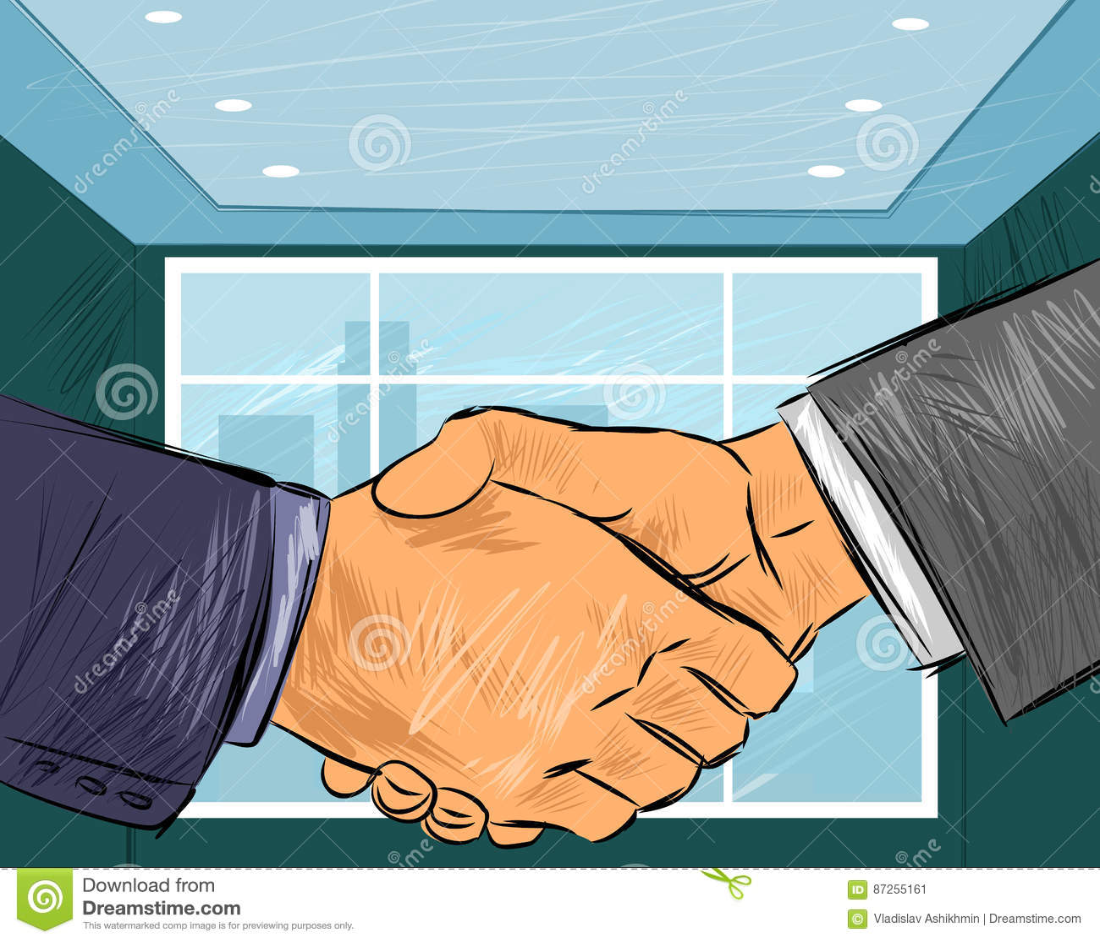 Dwa biznesmenów uścisk dłoni