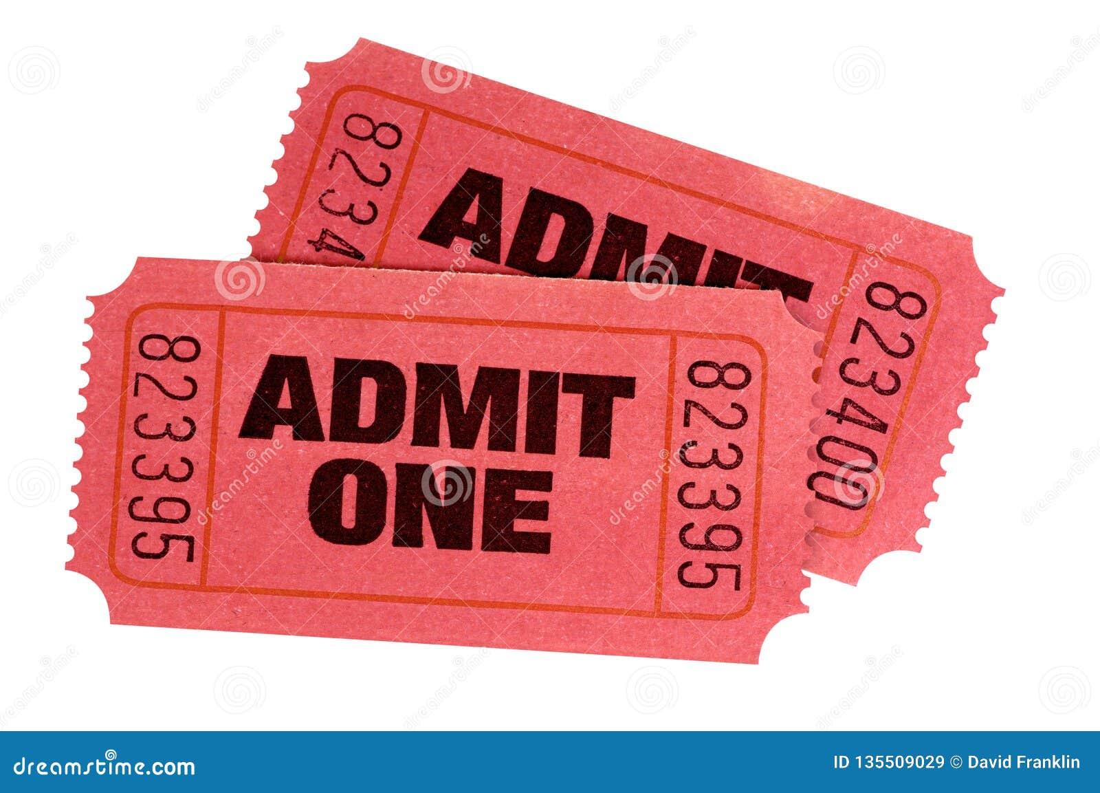 Dwa czerwień przyznaje jeden filmu retro bilety odizolowywających
