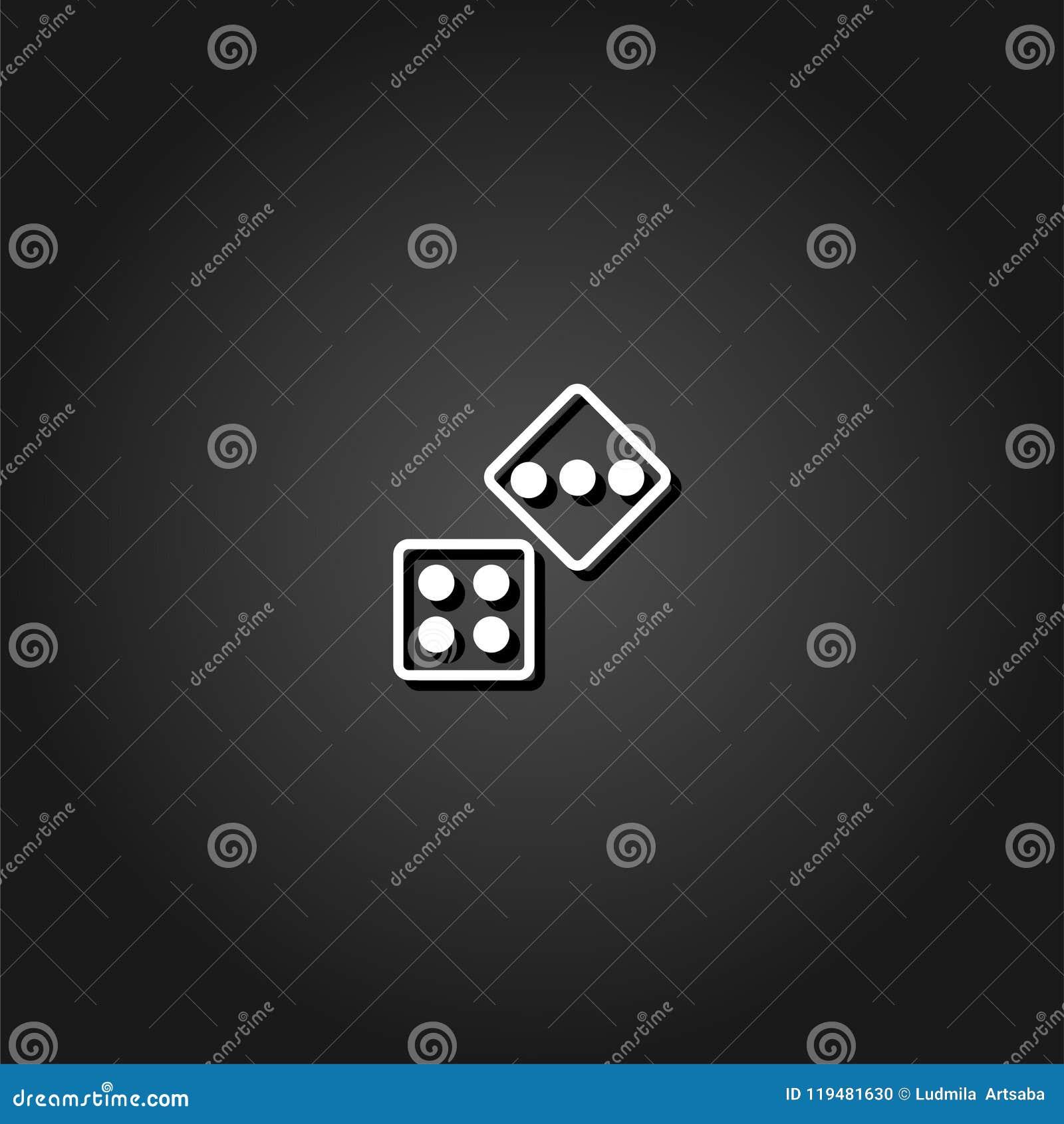 Dwa Dices ikony mieszkanie