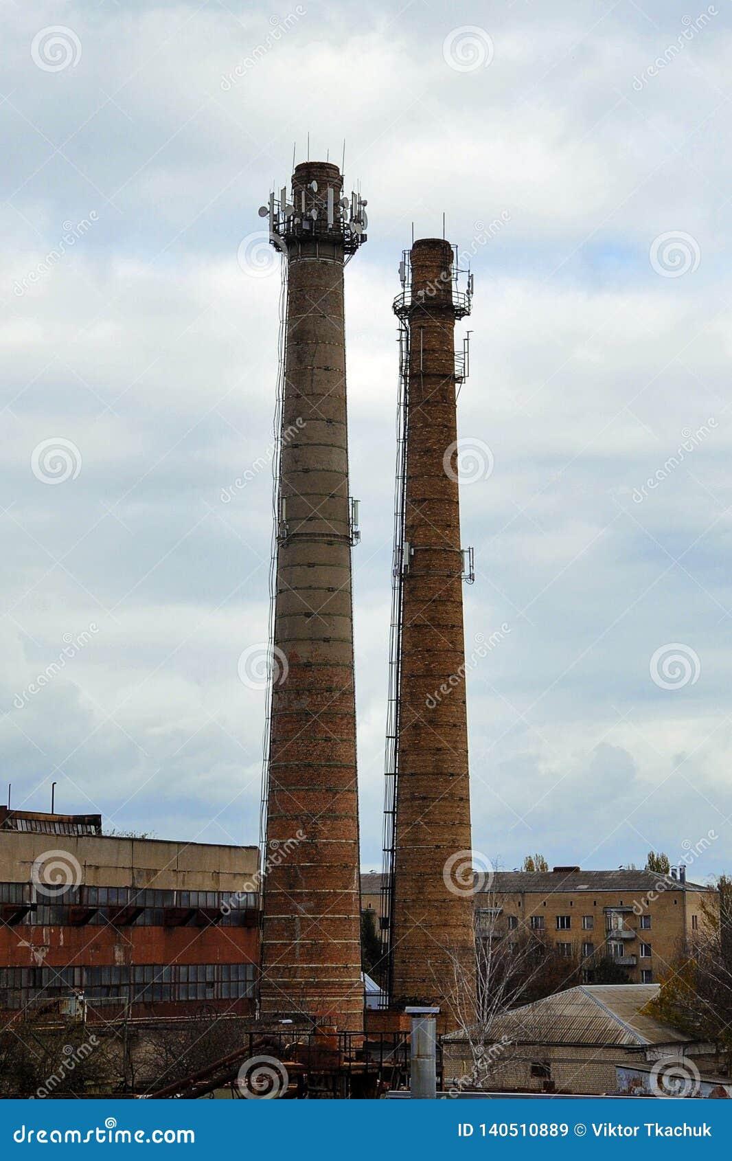 Dwa fabryki cegły drymby n