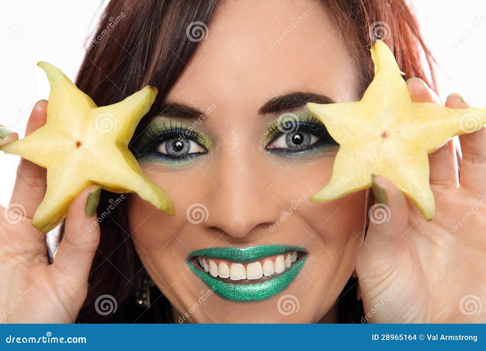 Dwa Gwiazdowej owoc plasterka