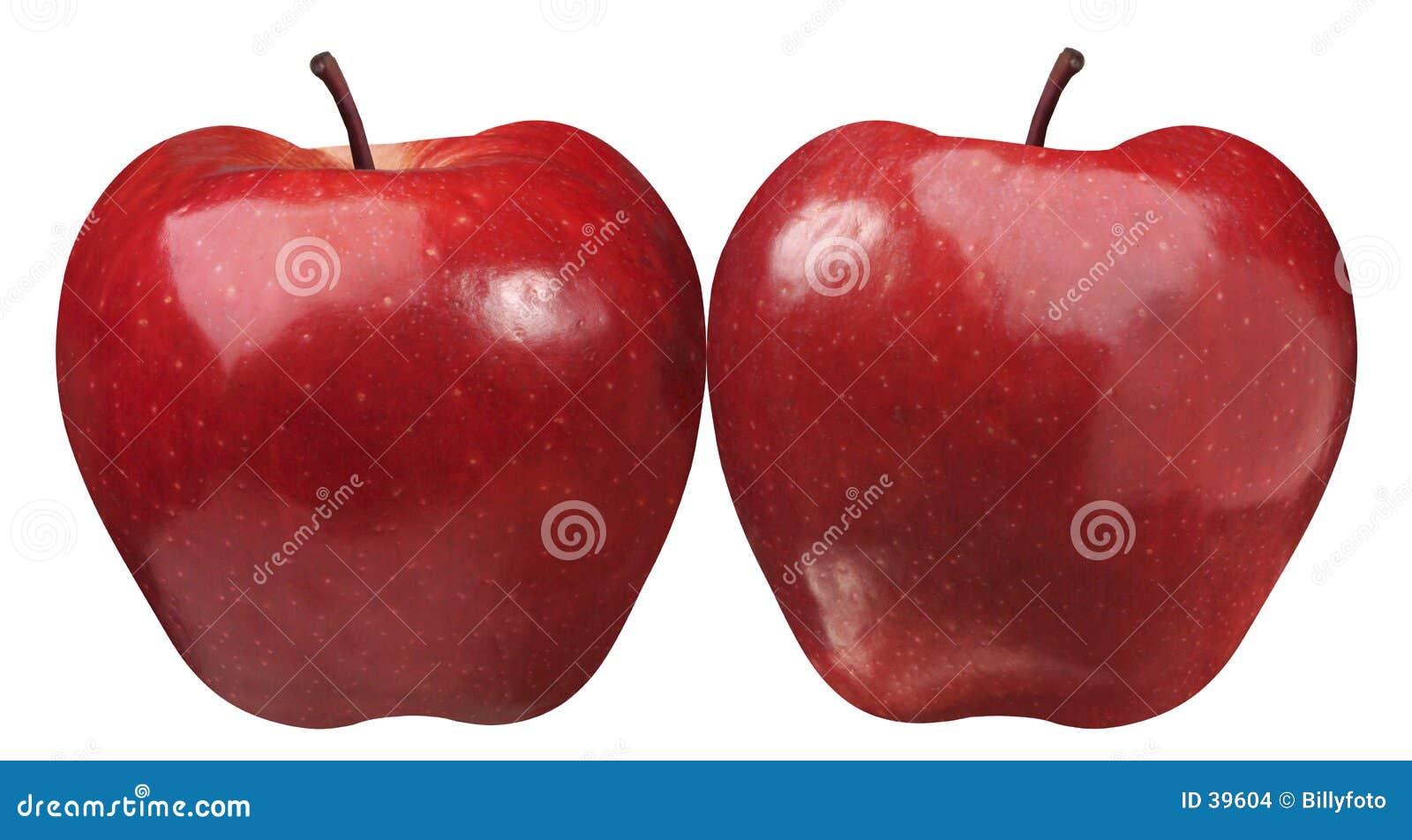Download Dwa jabłka zdjęcie stock. Obraz złożonej z czerwień, życie - 39604