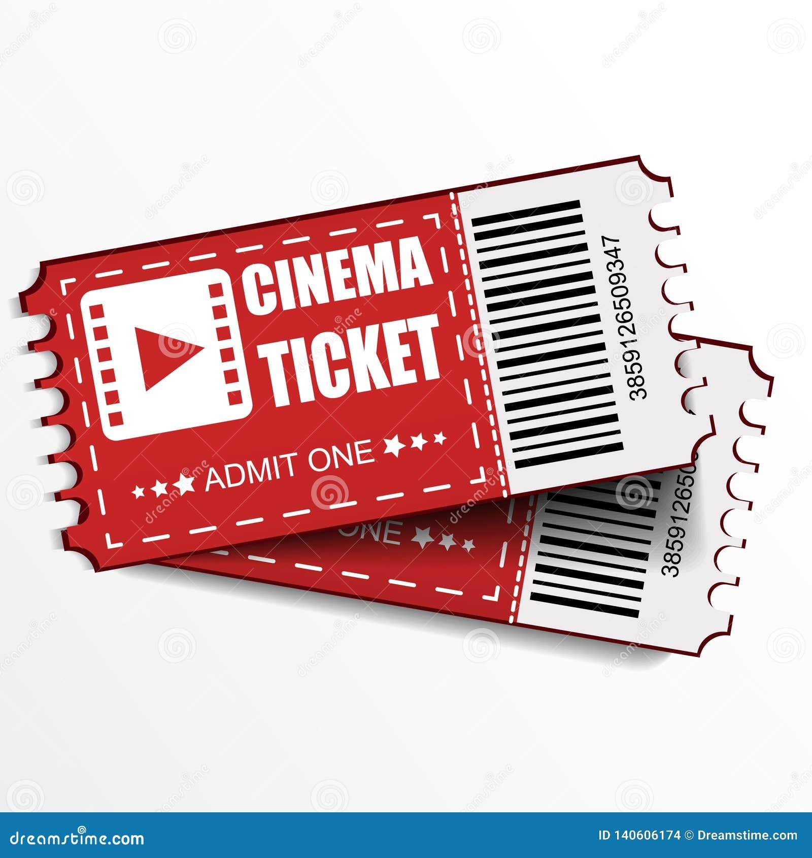 Dwa kinowego wektorowego bileta