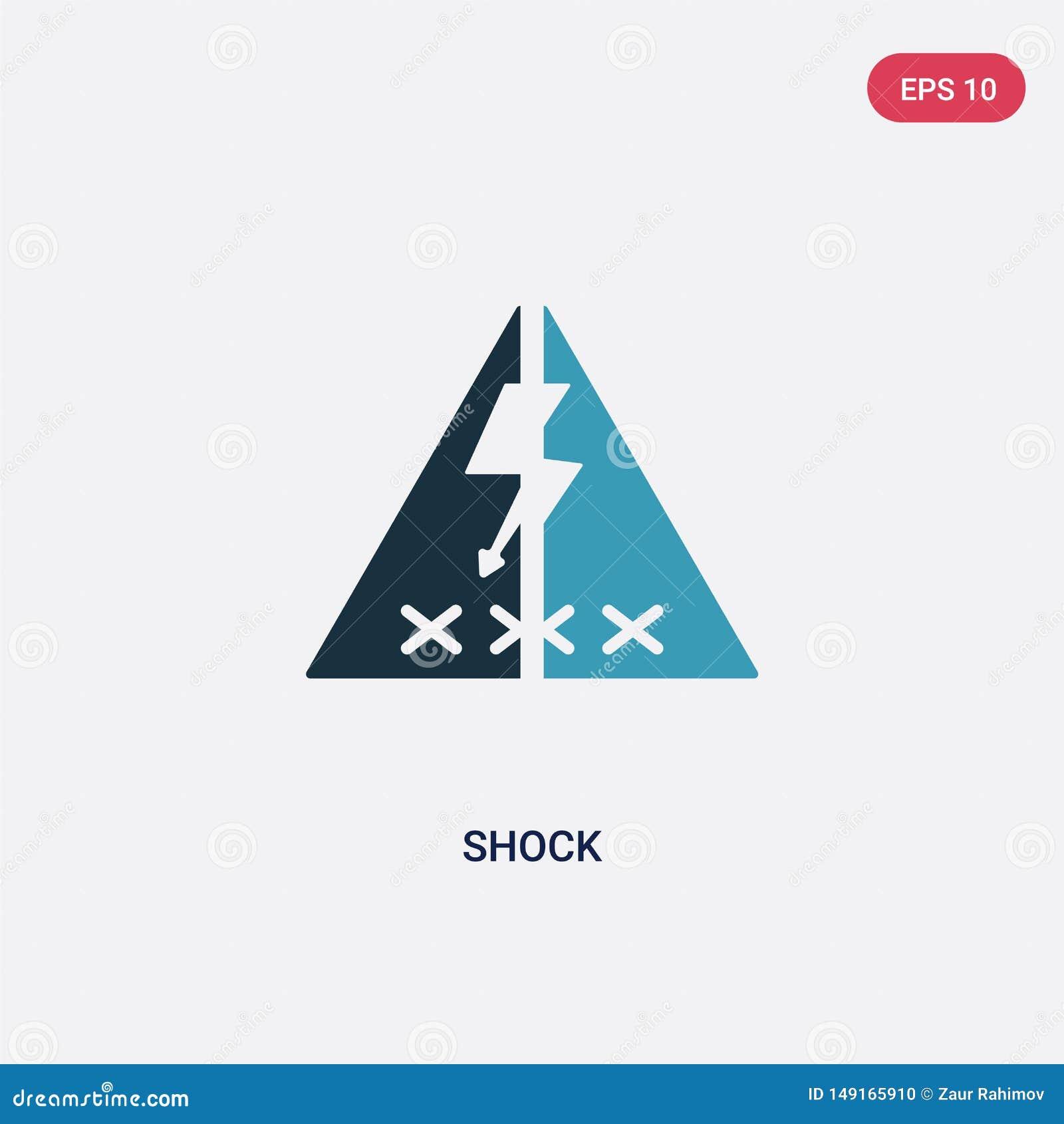 Dwa kolorów szoka wektorowa ikona od znaka pojęcia odosobniony błękitny szoka wektoru znaka symbol może być używa dla sieci, wisz