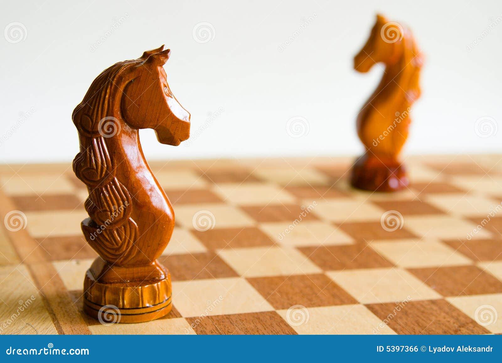 Dwa konie szachowi