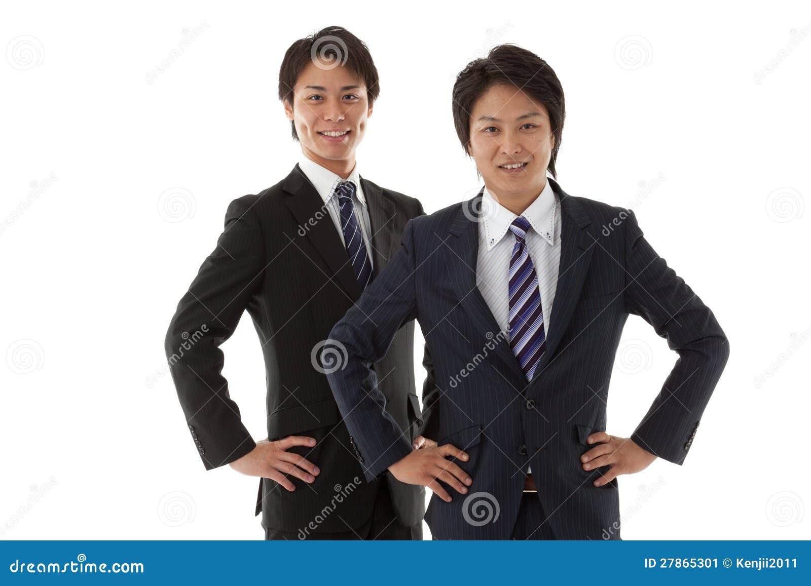 Dwa młodego biznesmena